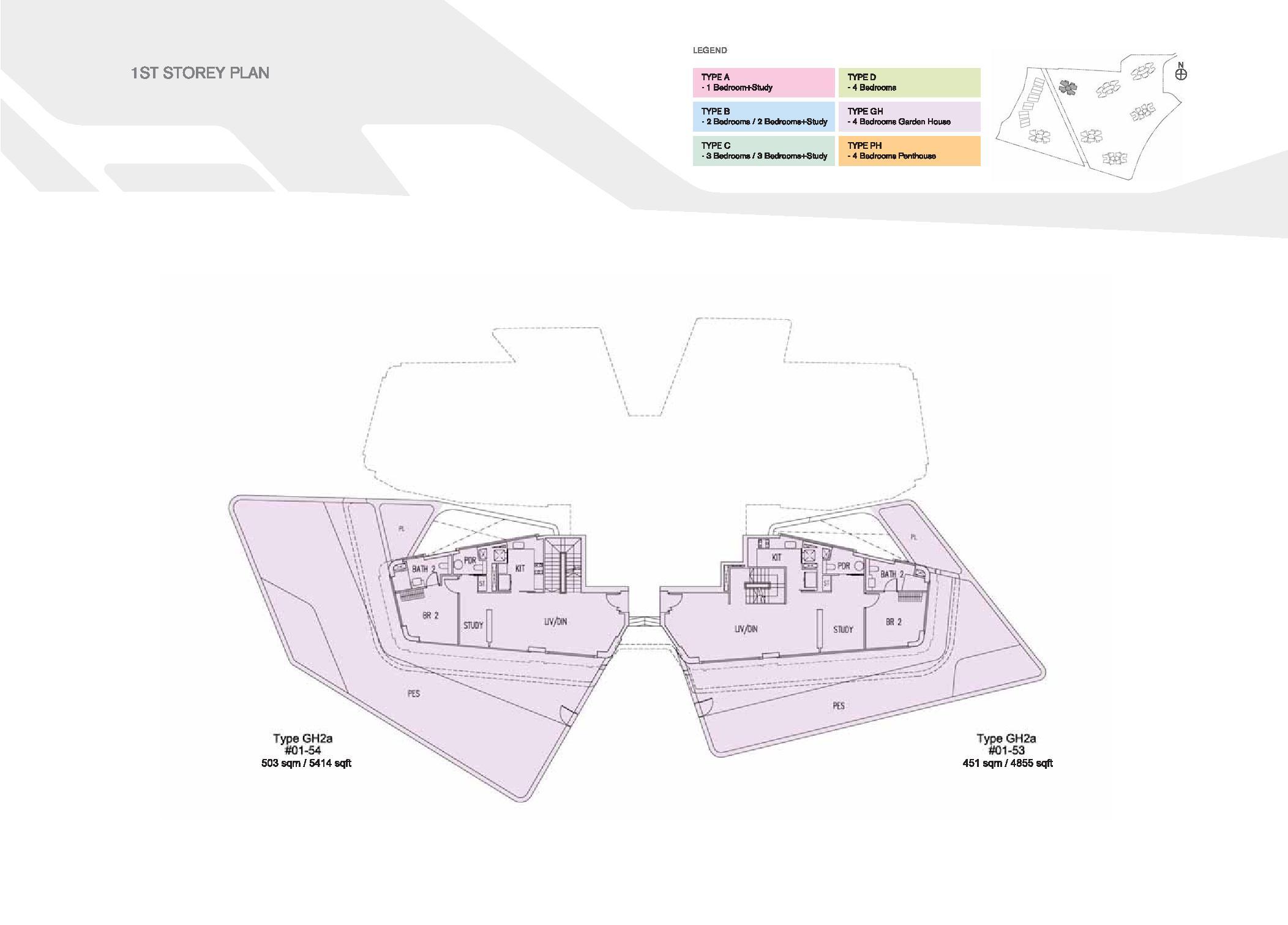 D'Leedon Block 15 1st Storey Floor Plans