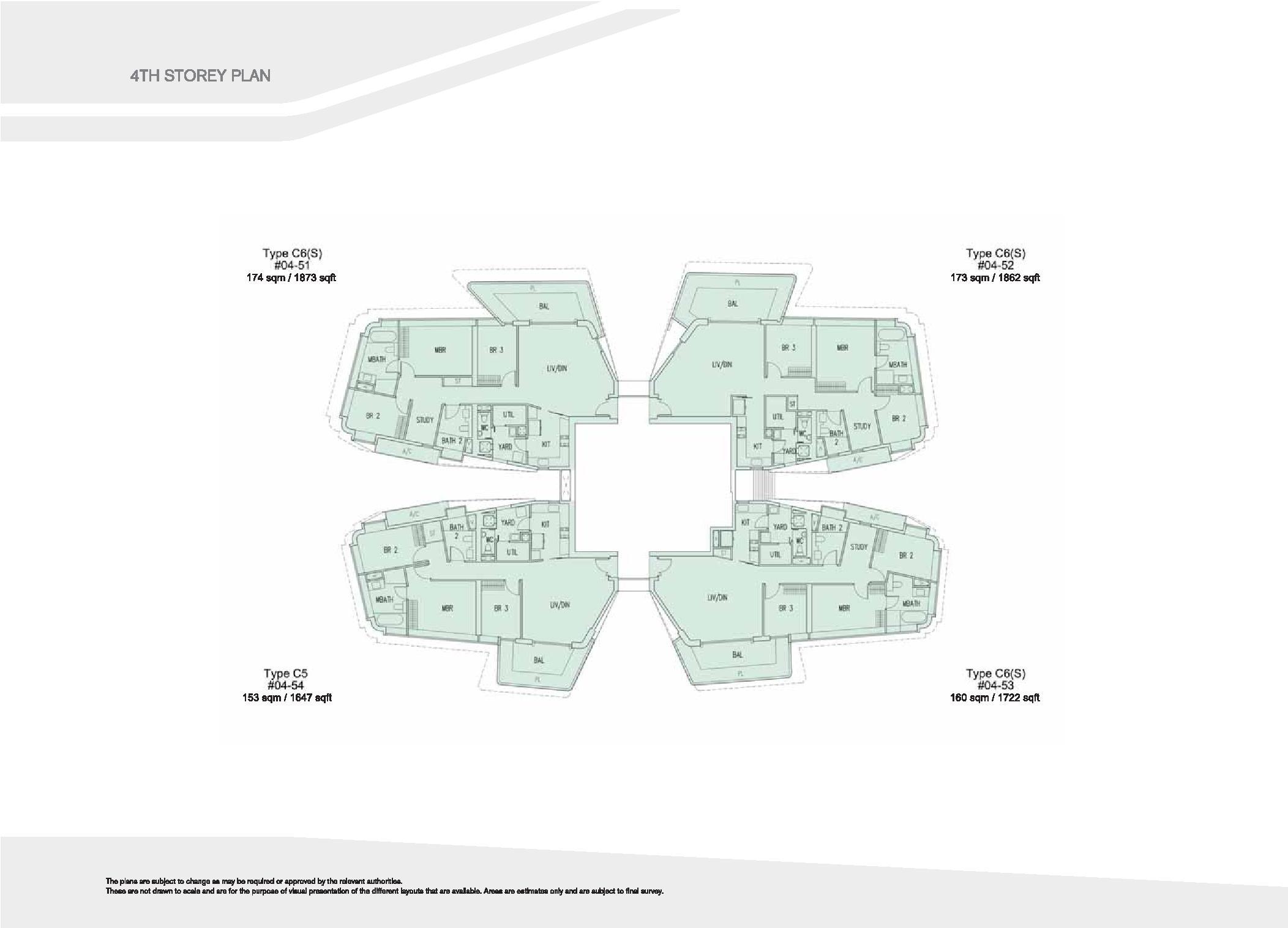 D'Leedon Block 15 4th Storey Floor Plans