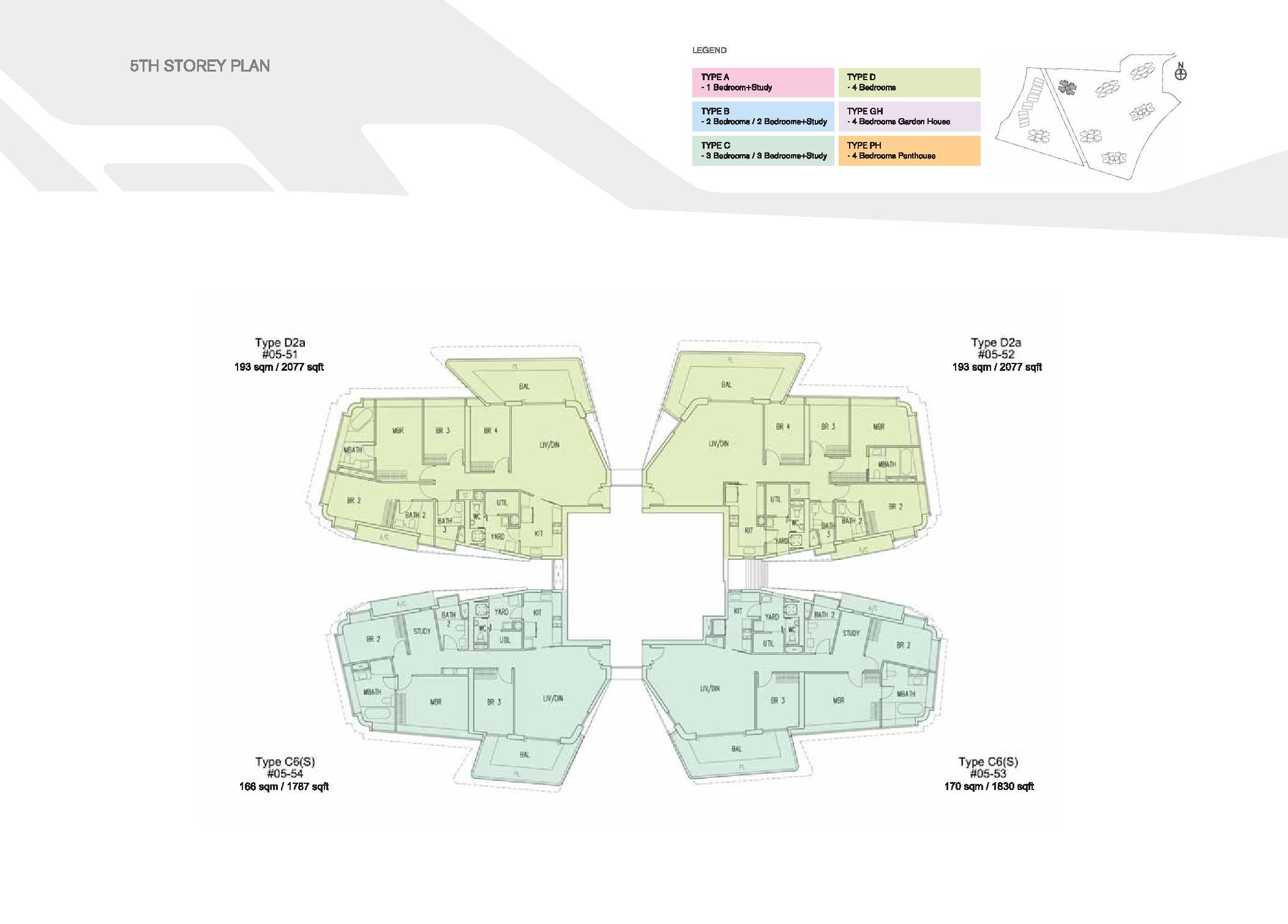 D'Leedon Block 15 5th Storey Floor Plans
