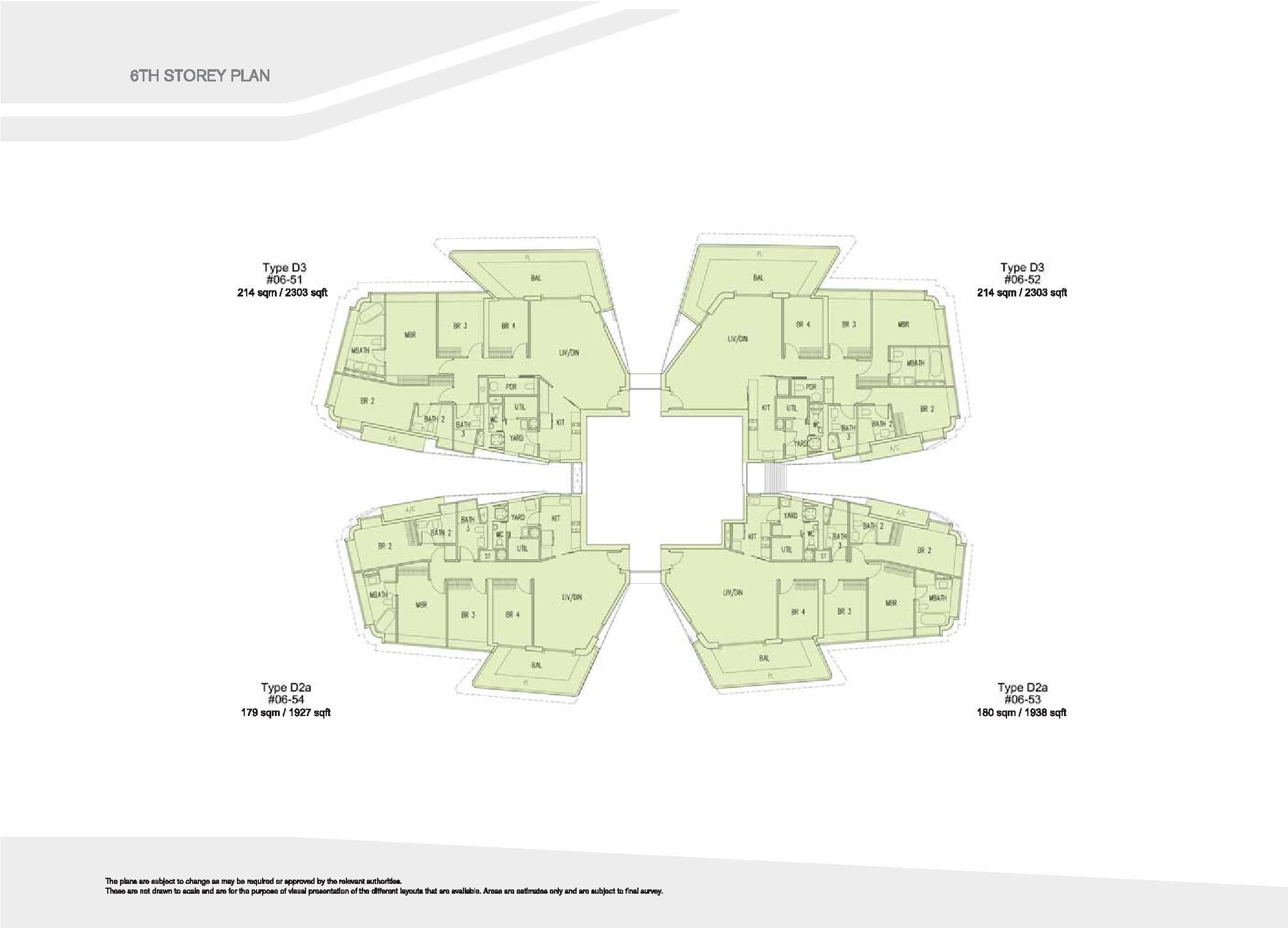 D'Leedon Block 15 6th Storey Floor Plans