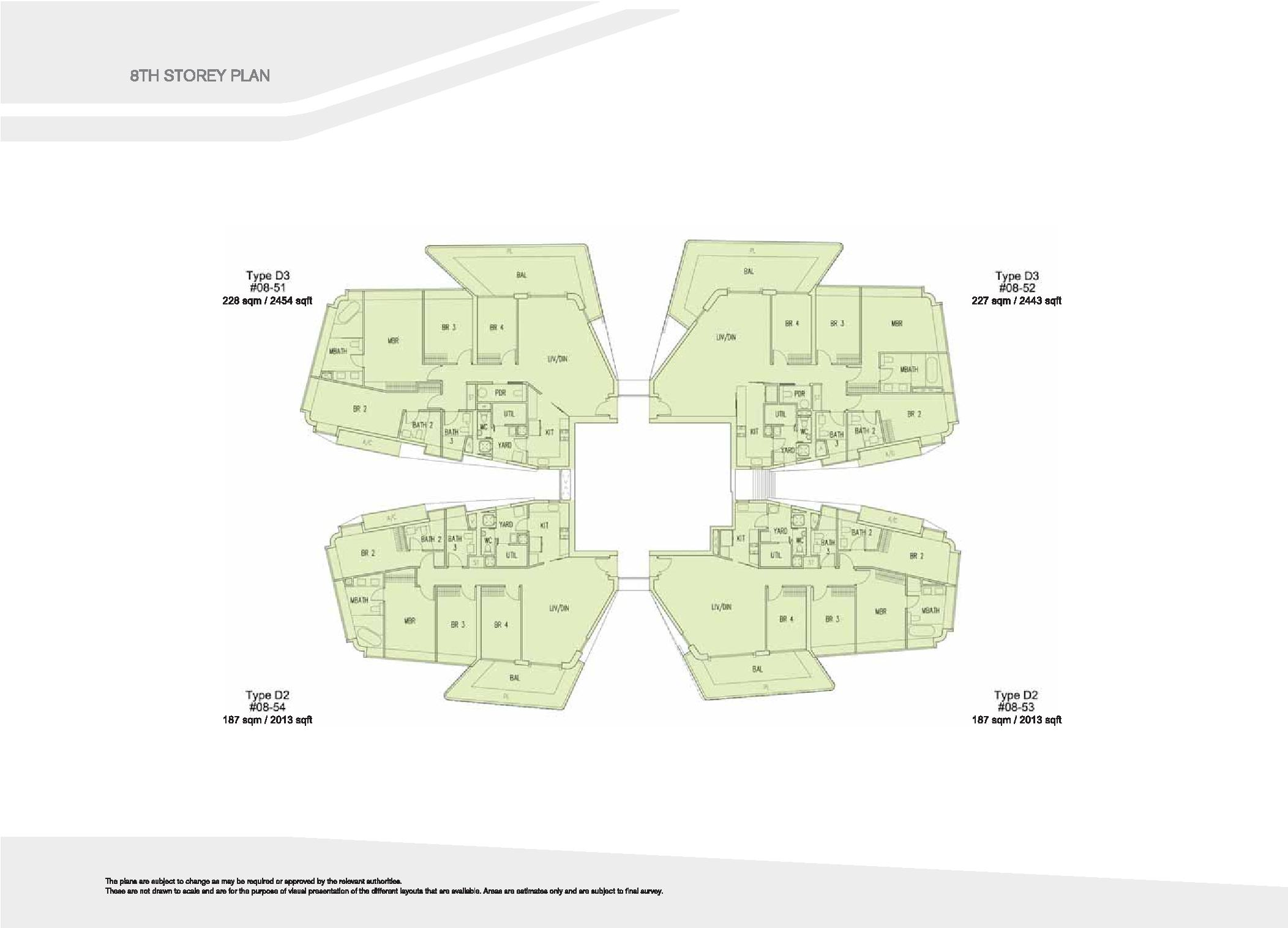 D'Leedon Block 15 8th Storey Floor Plans