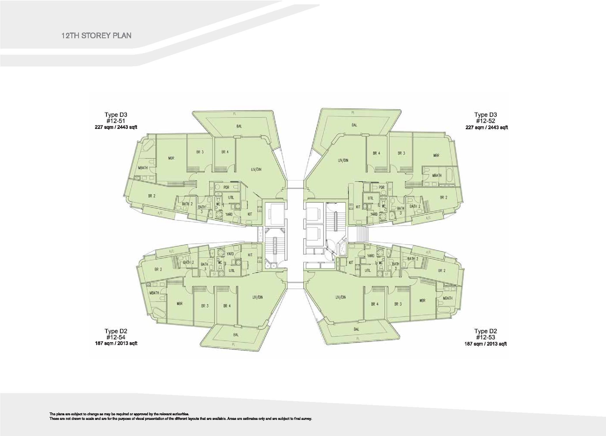 D'Leedon Block 15 12th Storey Floor Plans