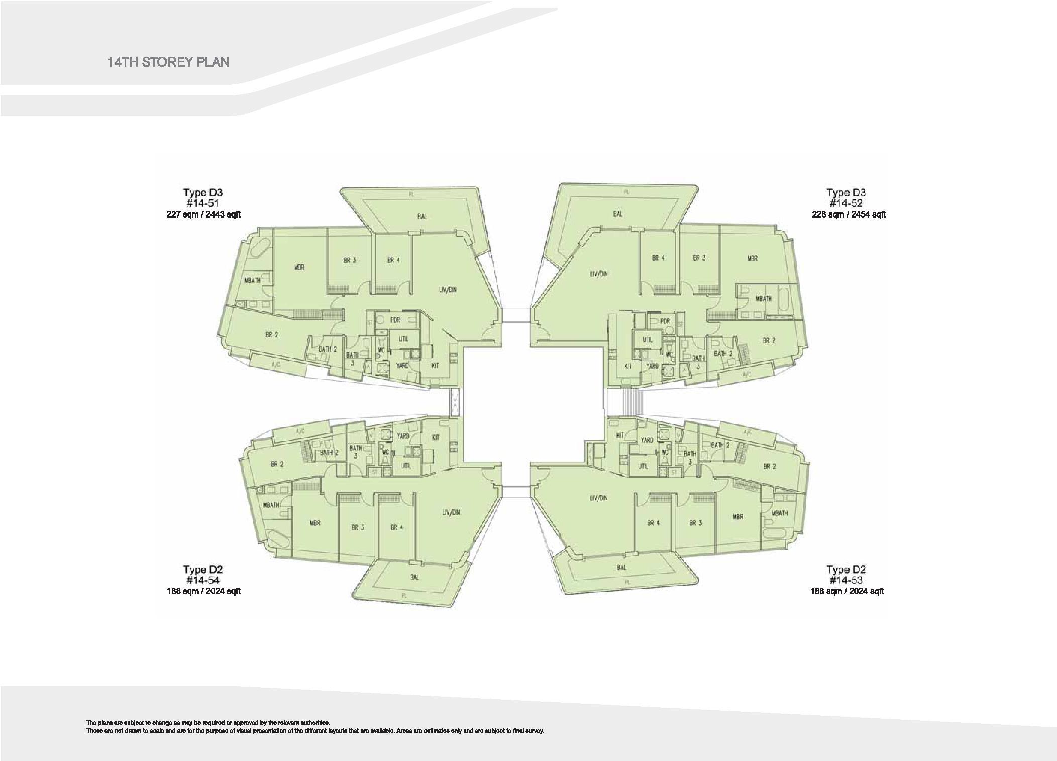 D'Leedon Block 15 14th Storey Floor Plans
