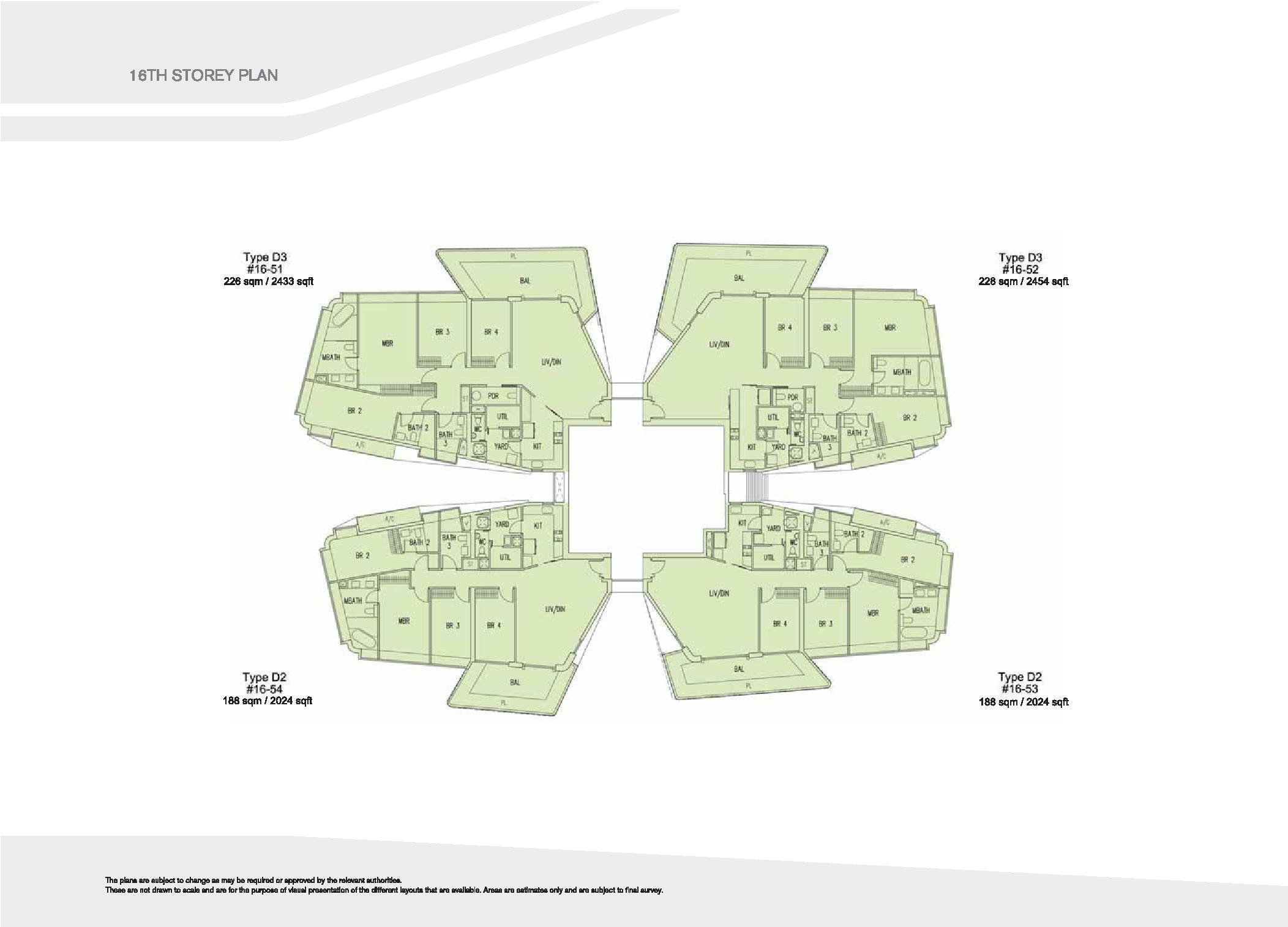 D'Leedon Block 15 16th Storey Floor Plans