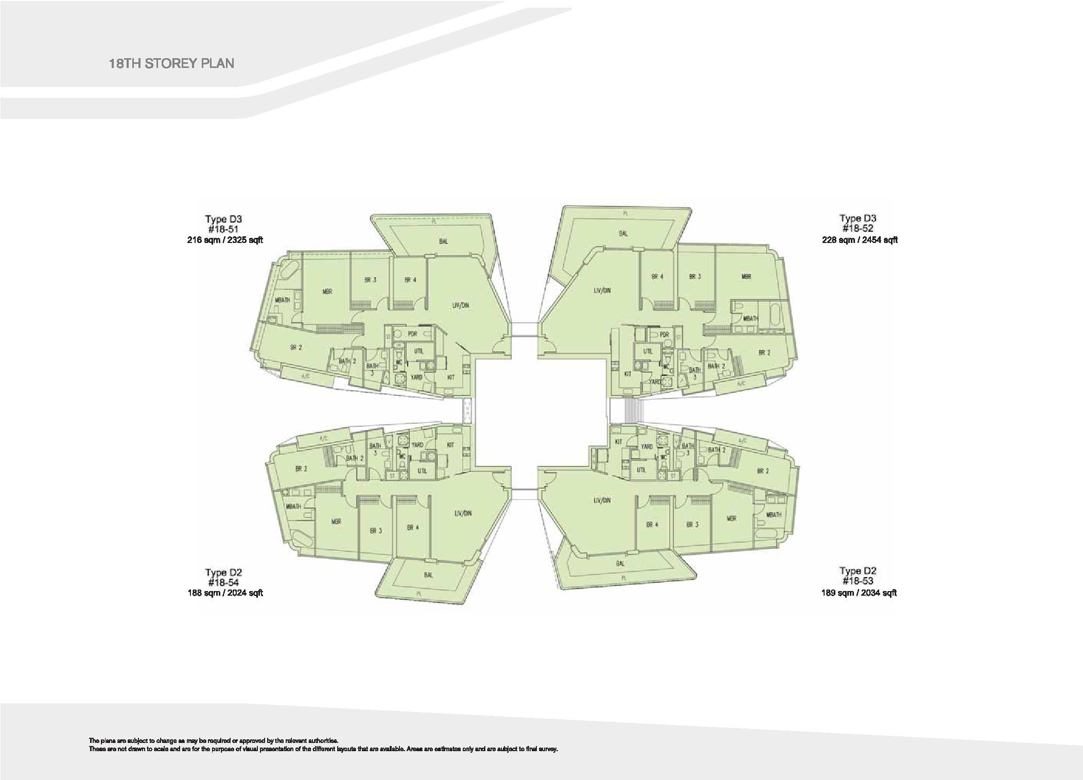 D'Leedon Block 15 18th Storey Floor Plans