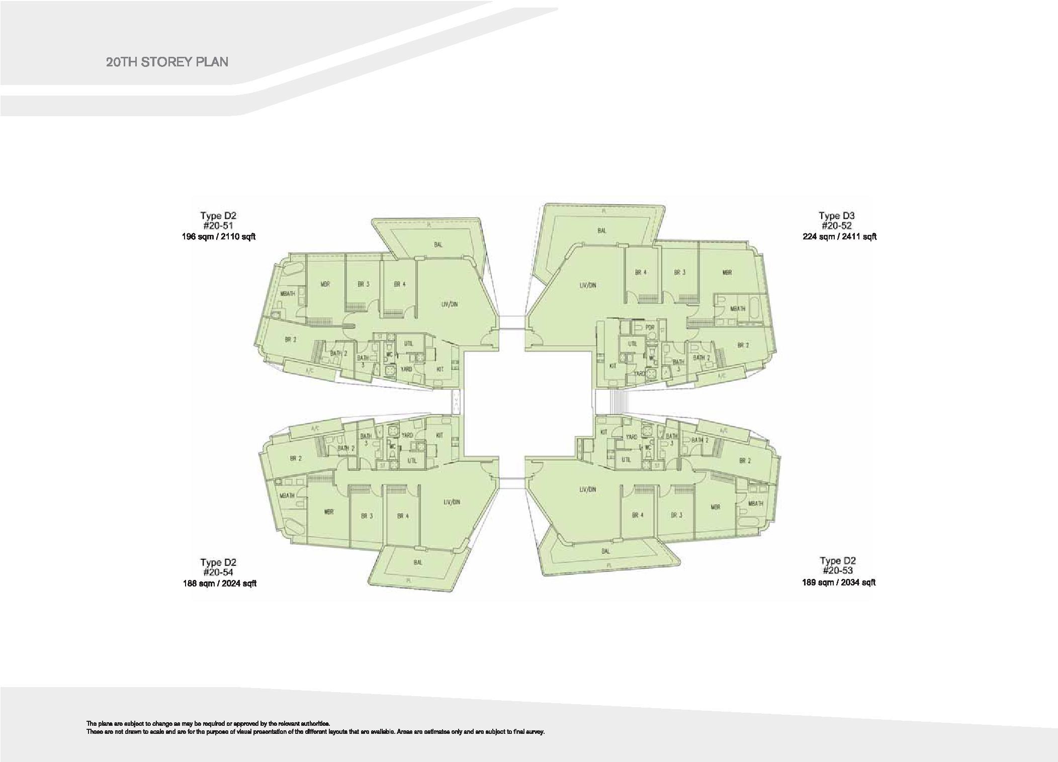 D'Leedon Block 15 20th Storey Floor Plans