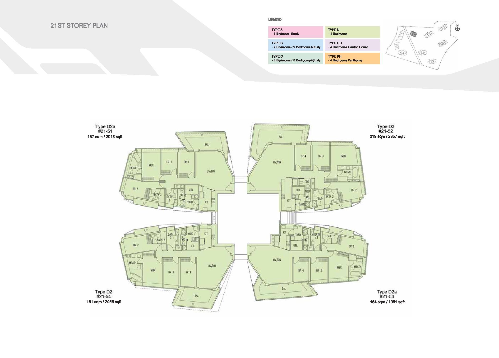D'Leedon Block 15 21st Storey Floor Plans