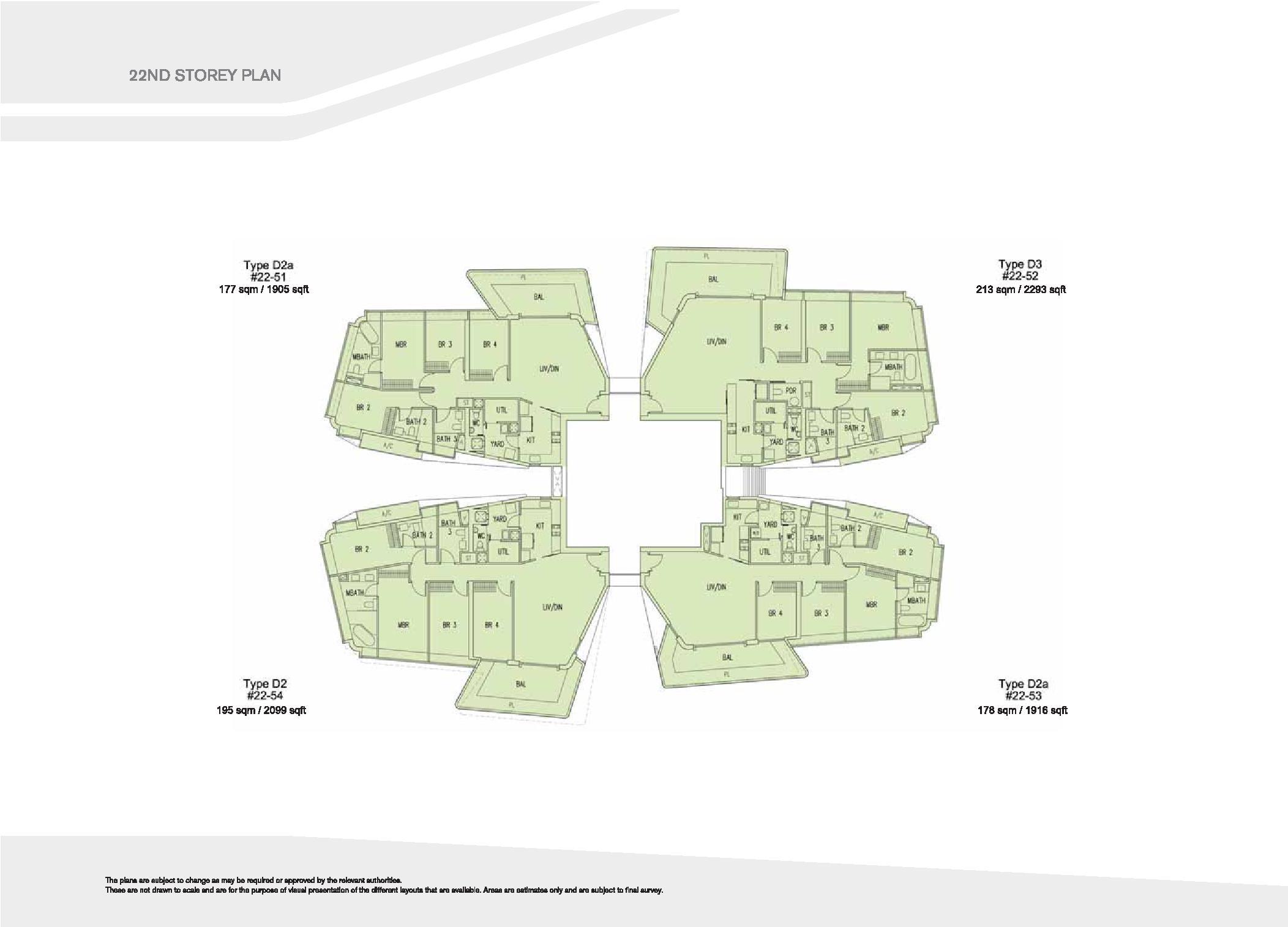 D'Leedon Block 15 22nd Storey Floor Plans
