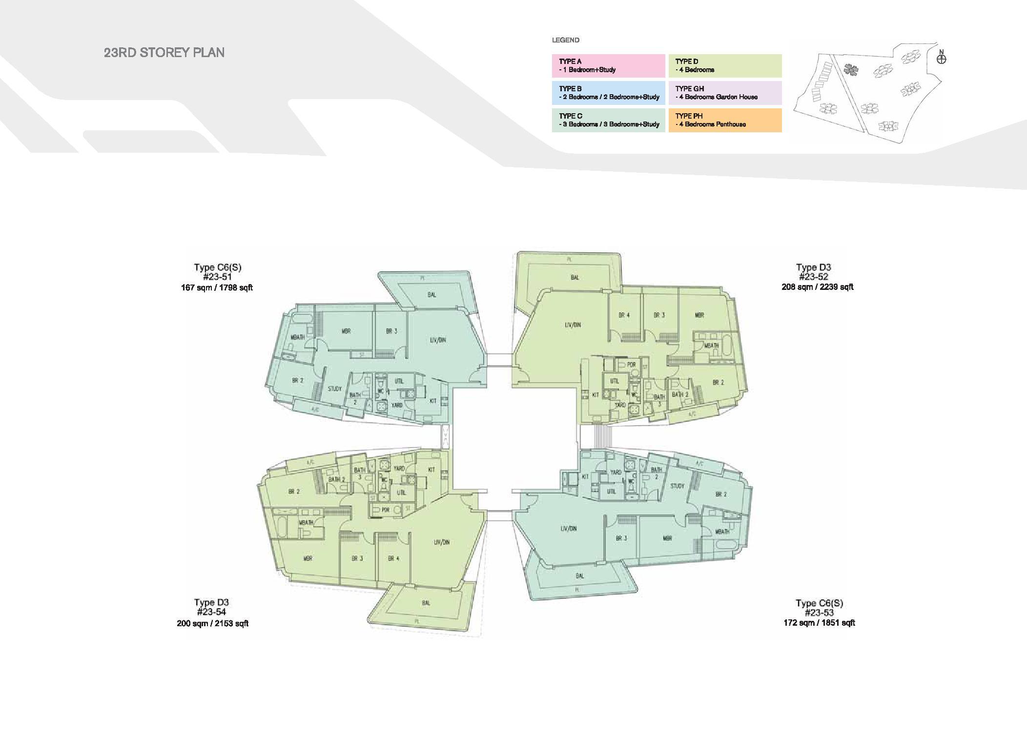 D'Leedon Block 15 23rd Storey Floor Plans