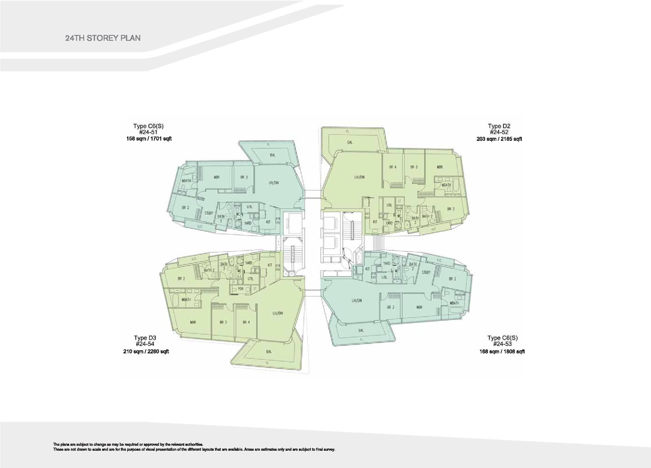 D'Leedon Block 15 24th Storey Floor Plans