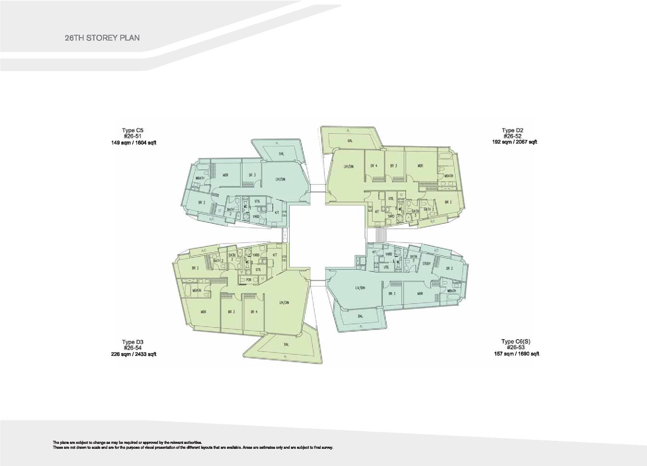 D'Leedon Block 15 26th Storey Floor Plans