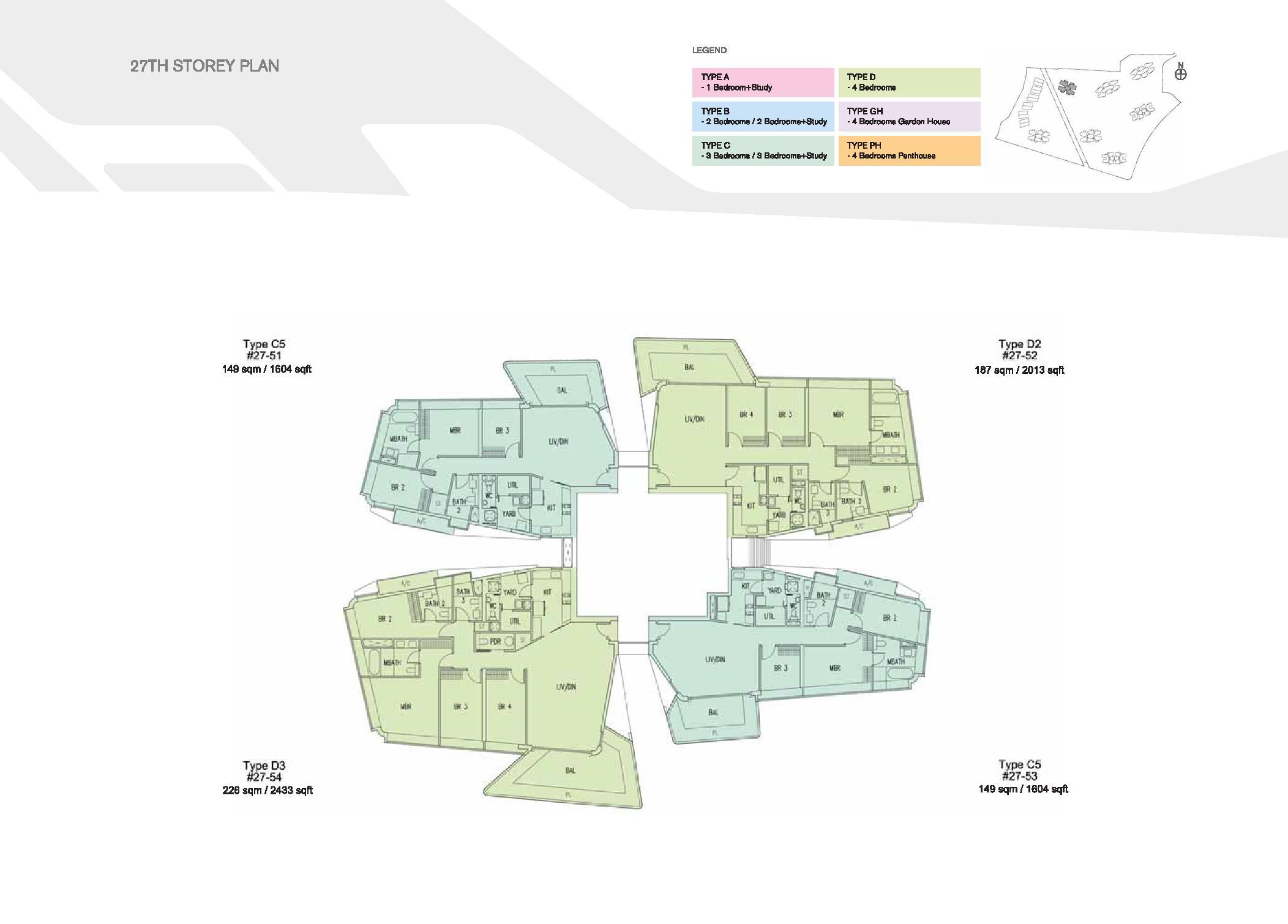 D'Leedon Block 15 27th Storey Floor Plans