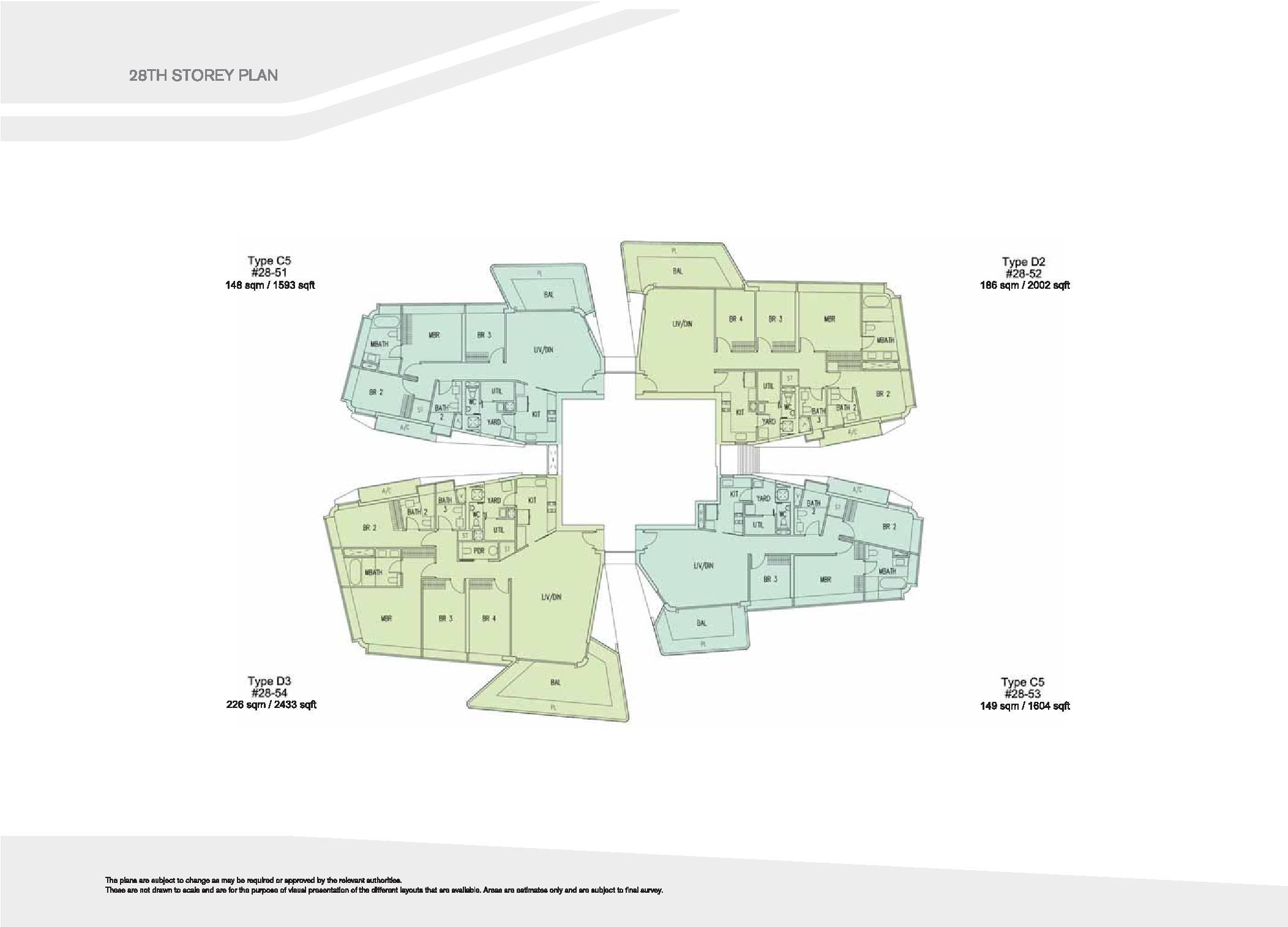 D'Leedon Block 15 28th Storey Floor Plans