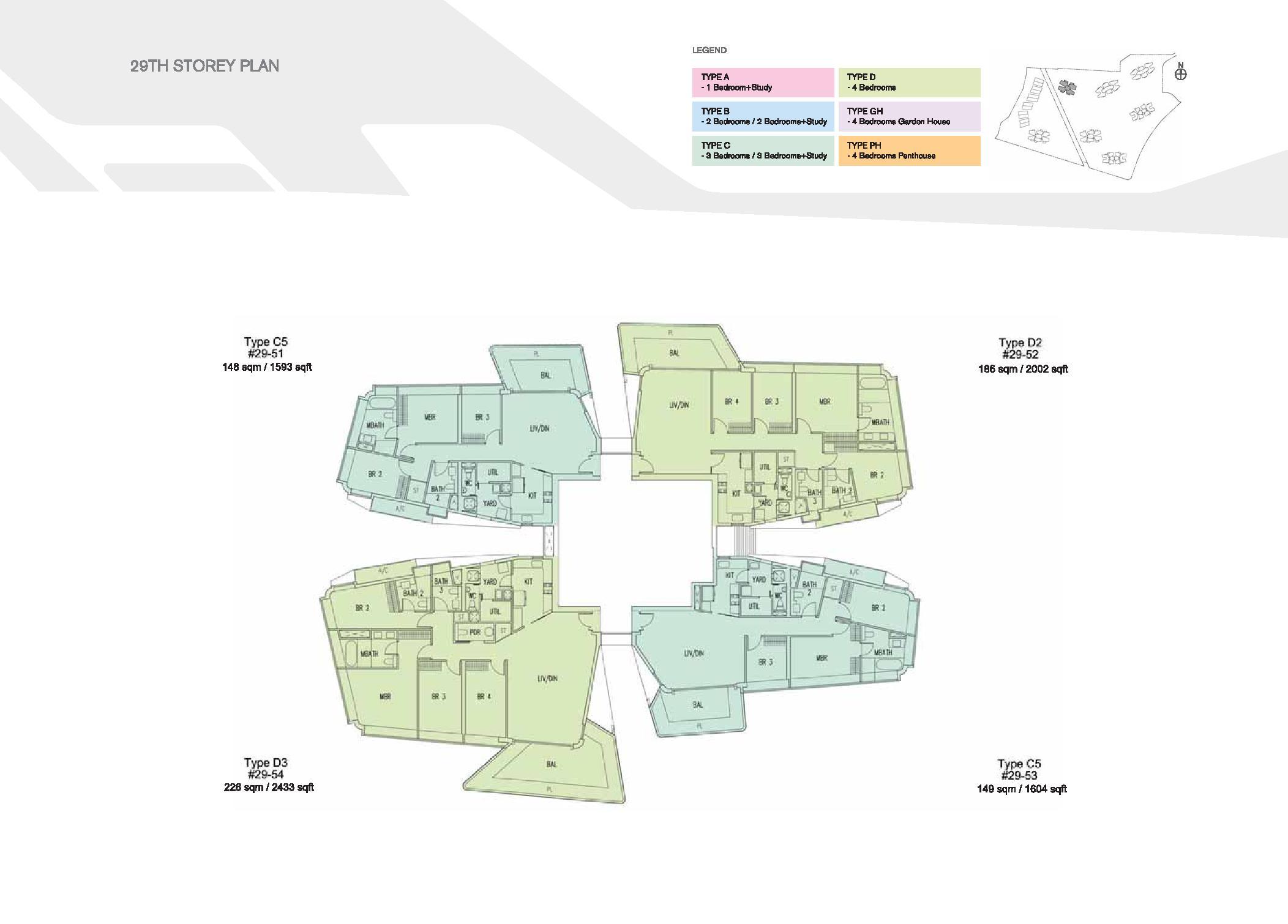 D'Leedon Block 15 29th Storey Floor Plans