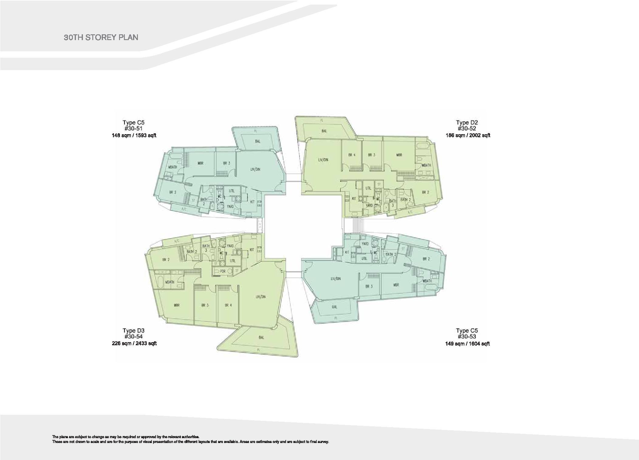D'Leedon Block 15 30th Storey Floor Plans