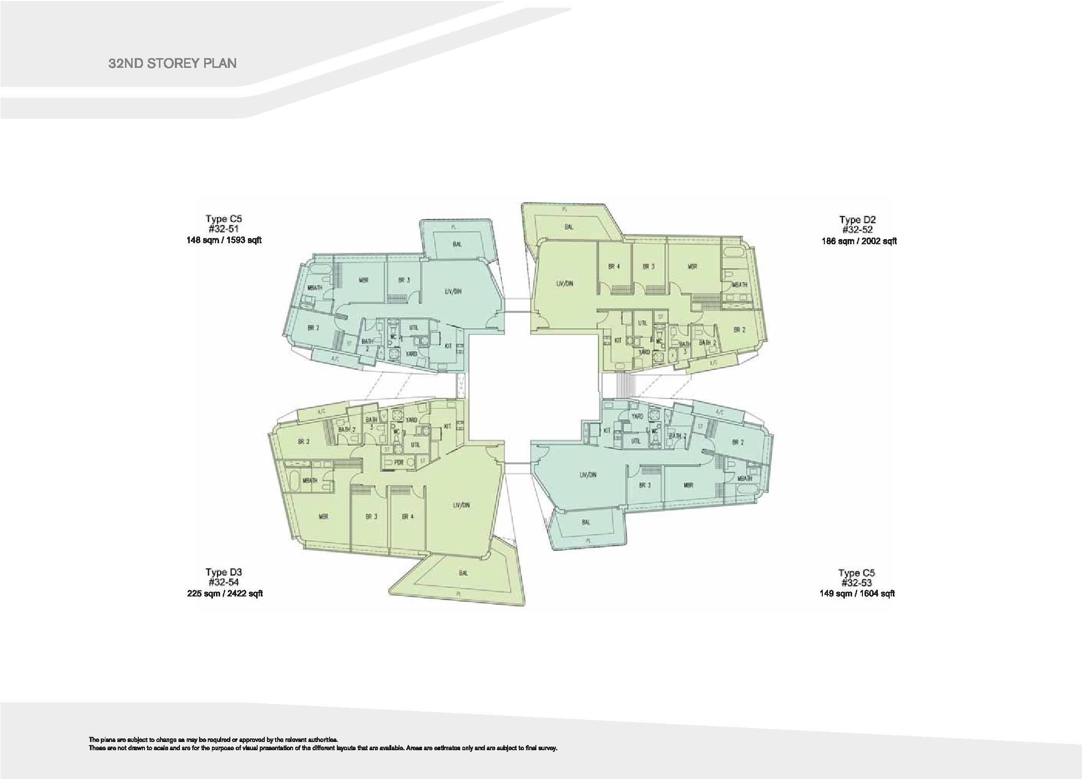 D'Leedon Block 15 32nd Storey Floor Plans