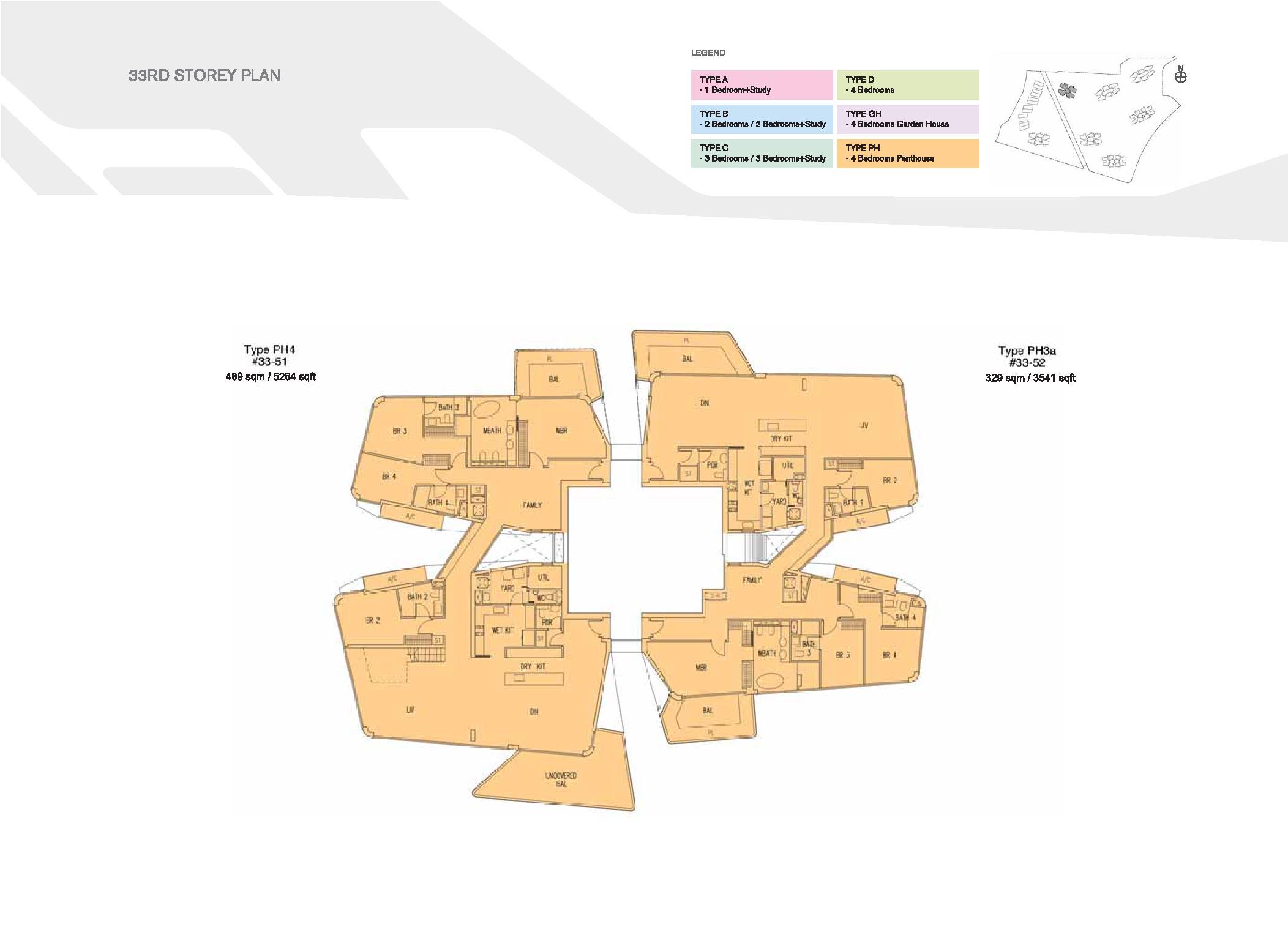 D'Leedon Block 15 33rd Storey Floor Plans