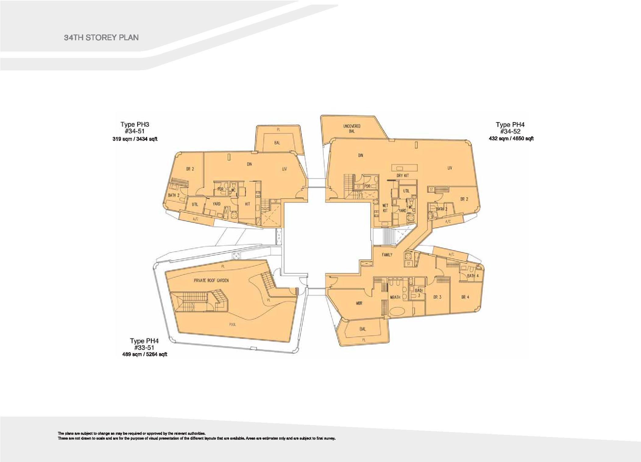 D'Leedon Block 15 34th Storey Floor Plans