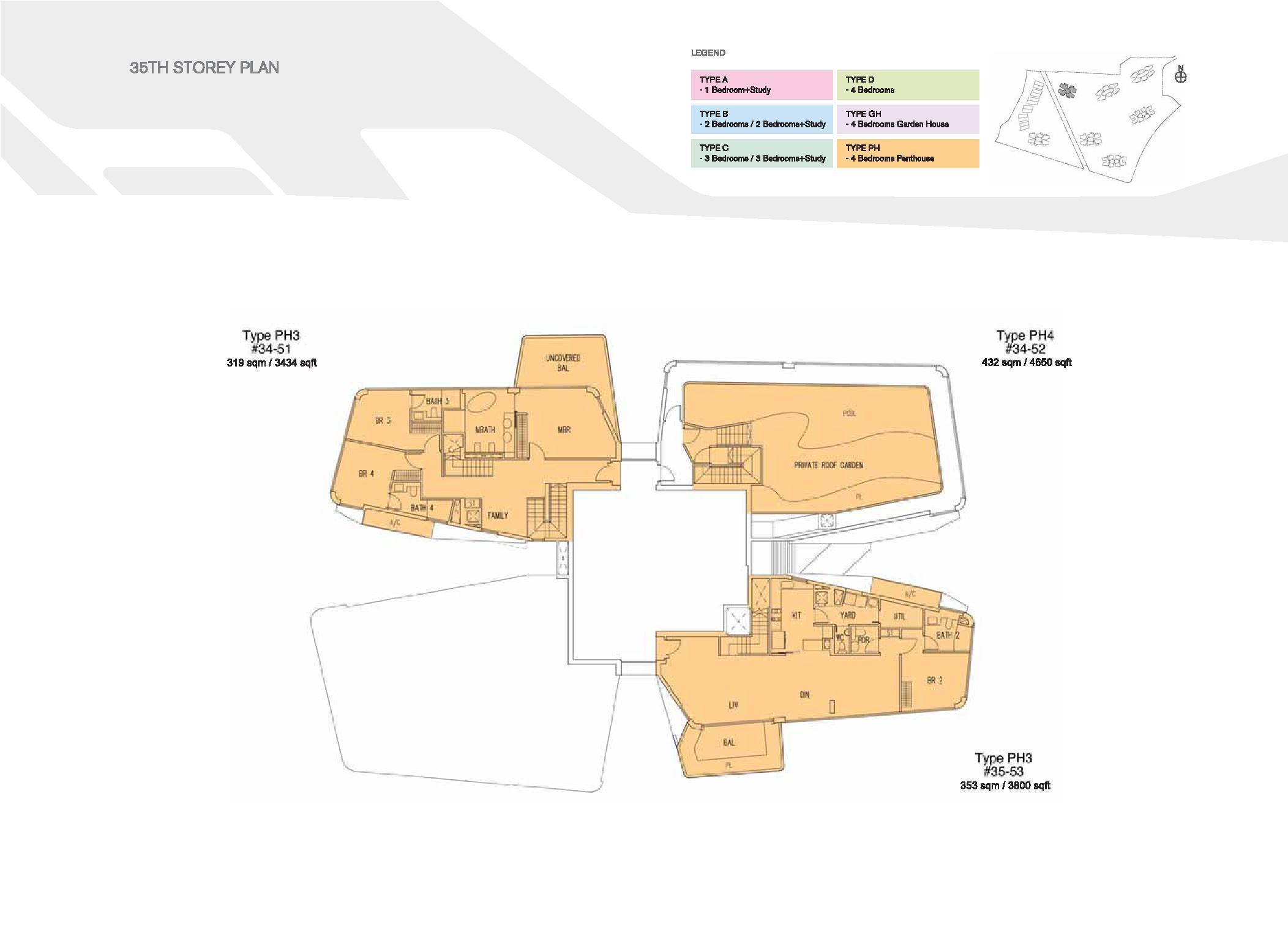 D'Leedon Block 15 35th Storey Floor Plans
