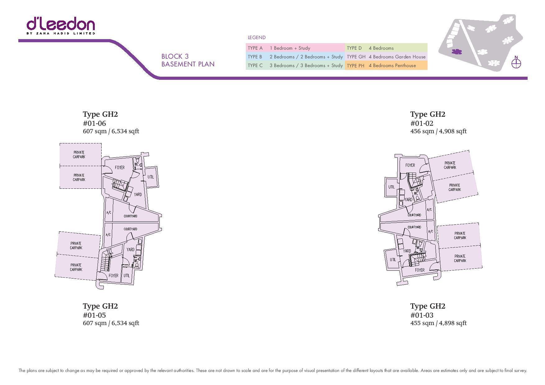 D'Leedon Block 3 Basement Floor Plans