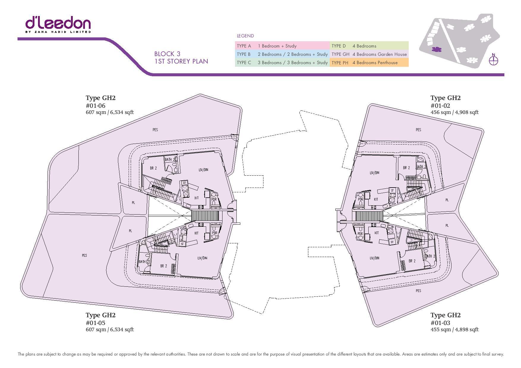 D'Leedon Block 1st Storey Floor Plans