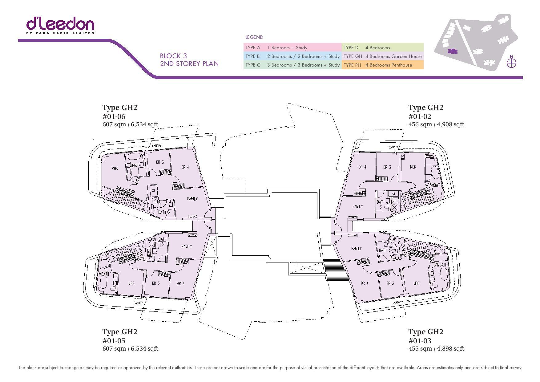 D'Leedon Block 2nd Storey Floor Plans