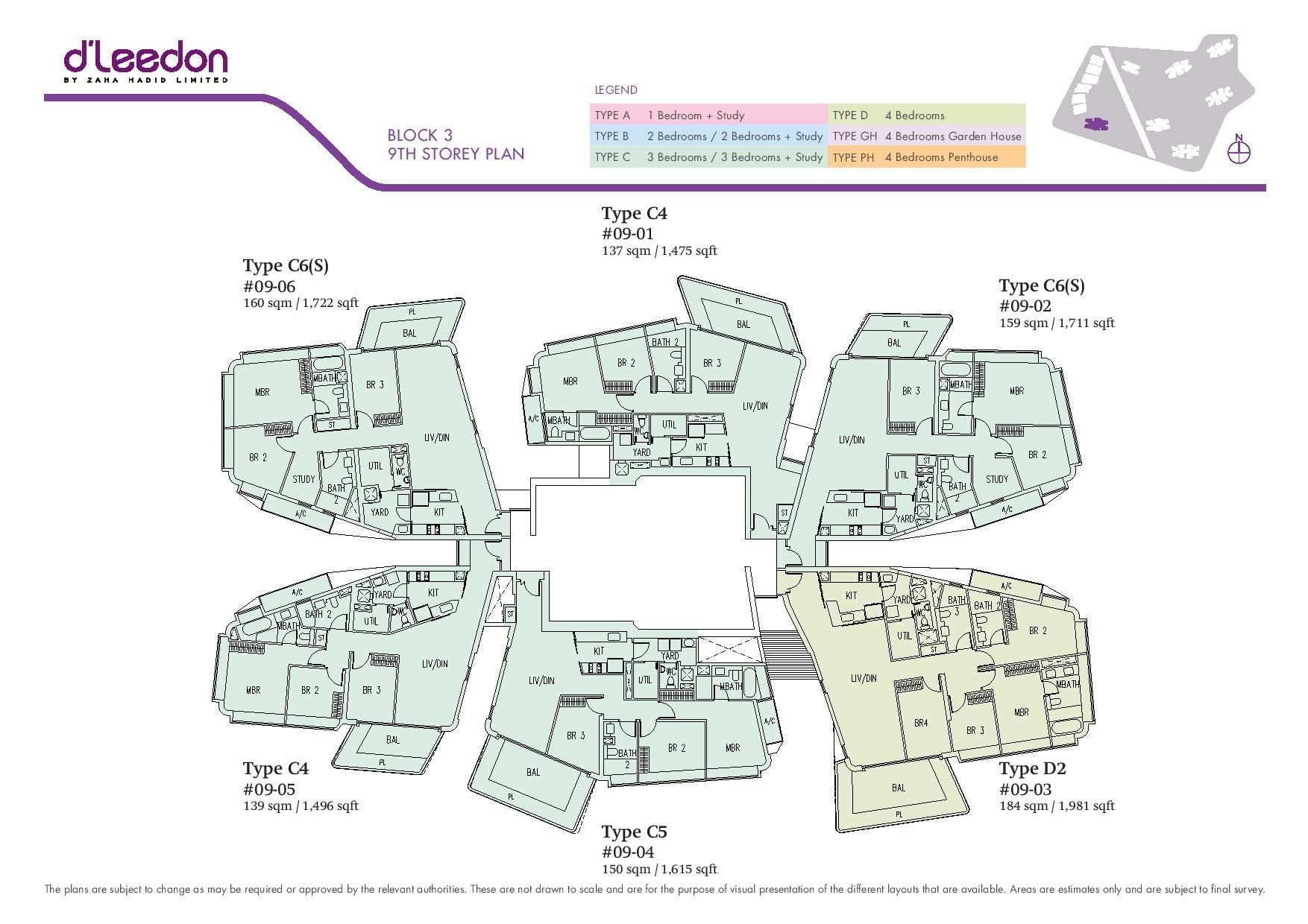 D'Leedon Block 9th Storey Floor Plans