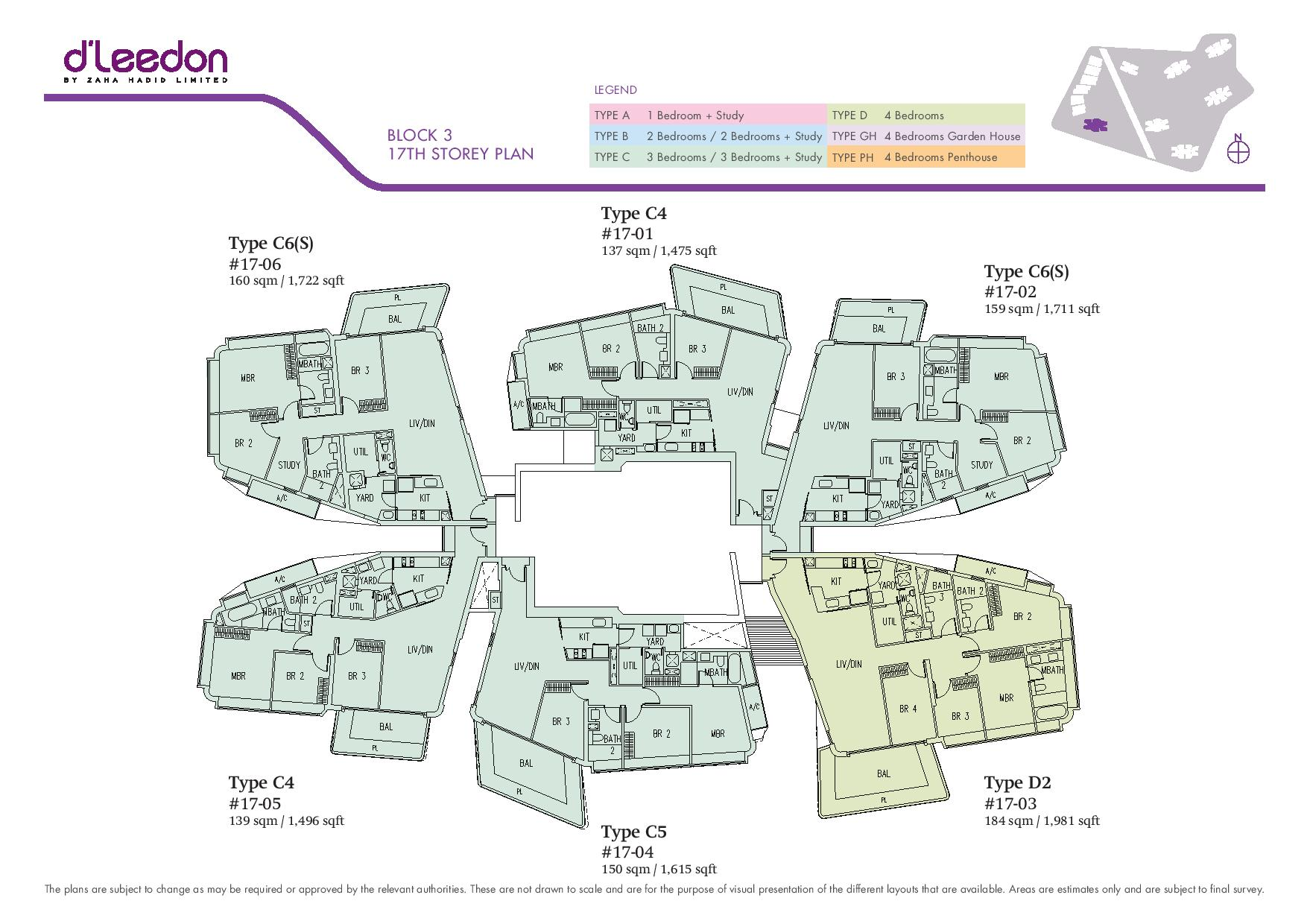 D'Leedon Block 17th Storey Floor Plans