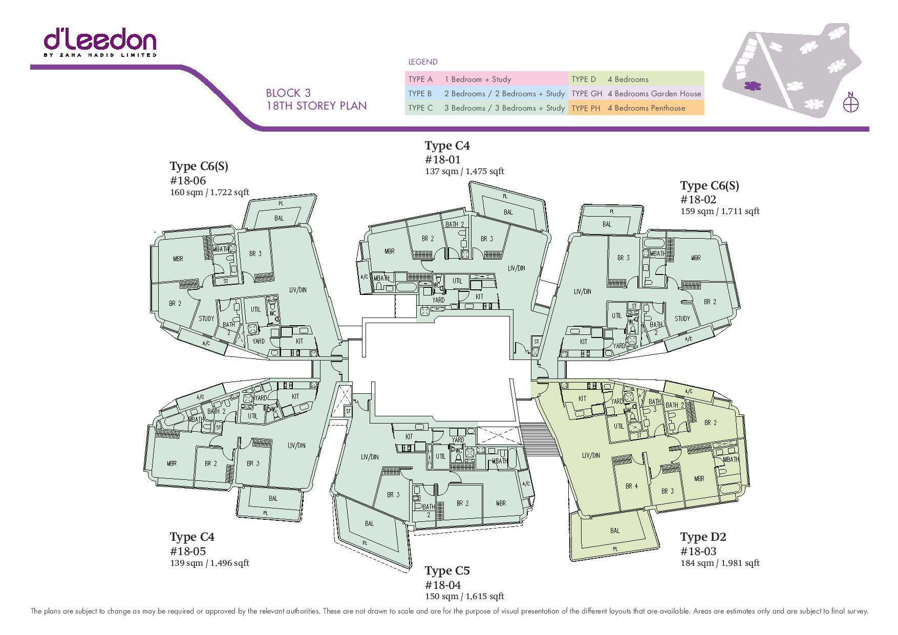 D'Leedon Block 18th Storey Floor Plans