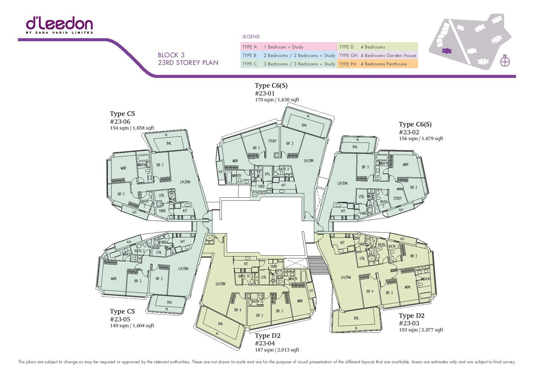 D'Leedon Block 23rd Storey Floor Plans