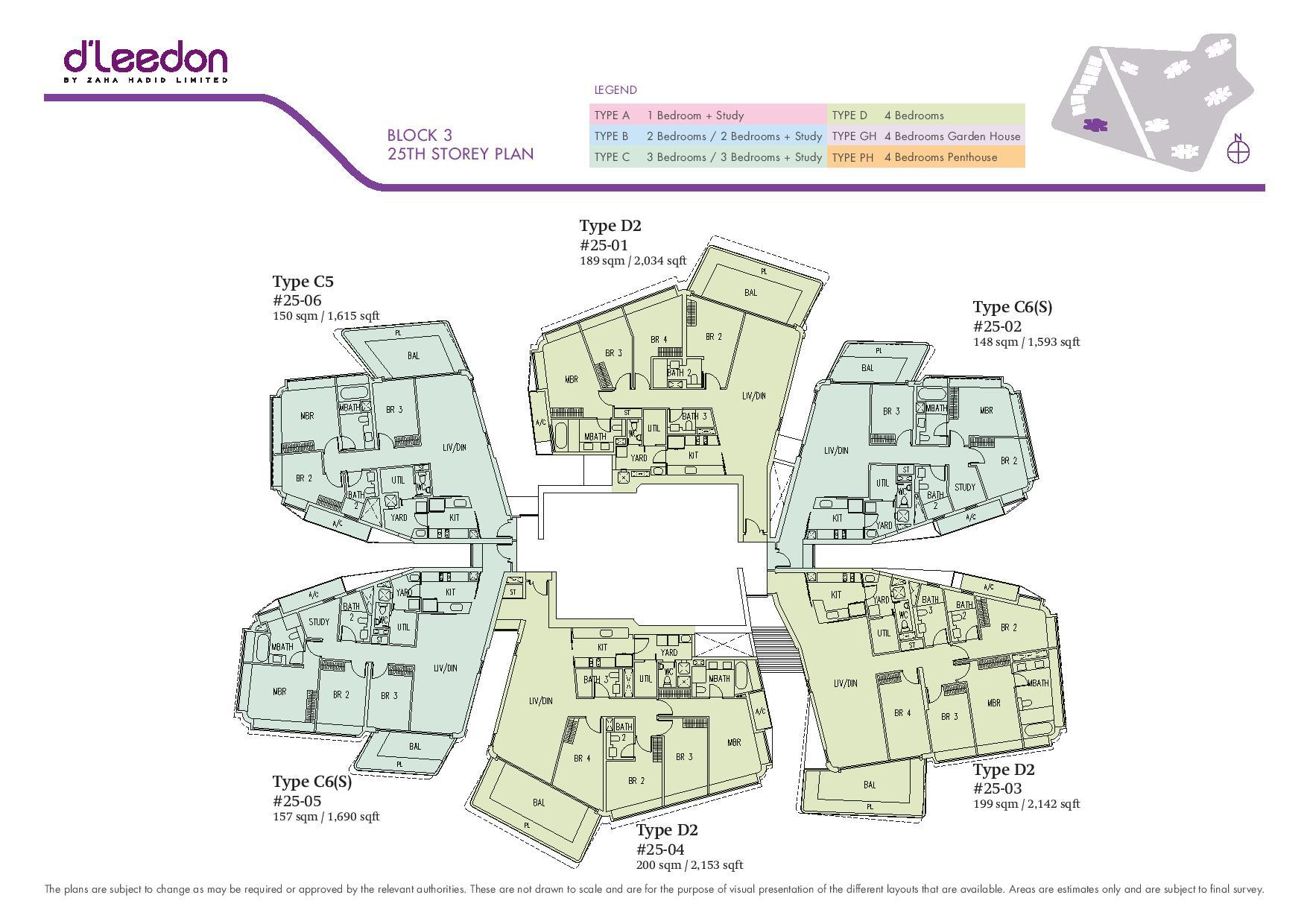D'Leedon Block 25th Storey Floor Plans