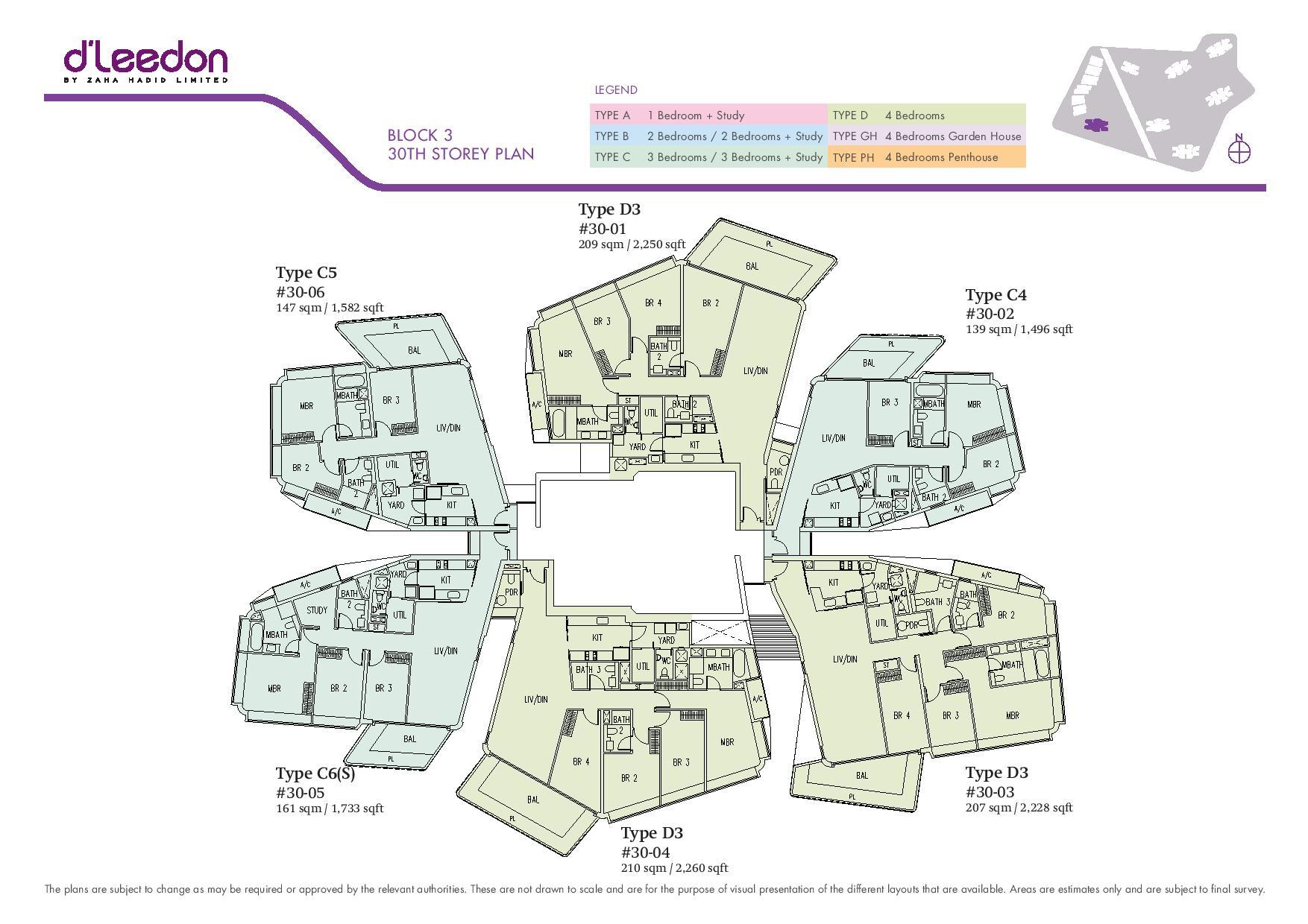 D'Leedon Block 30th Storey Floor Plans