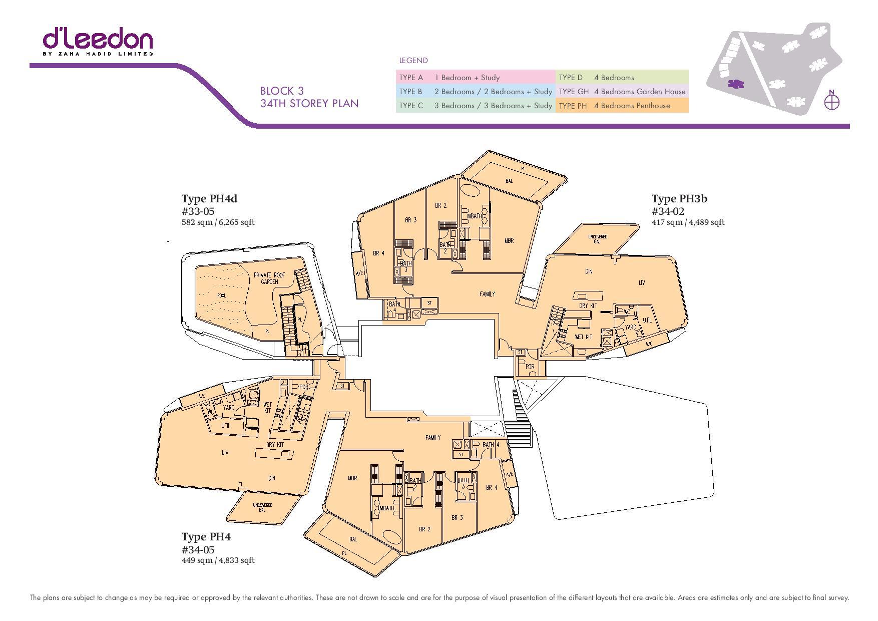 D'Leedon Block 34th Storey Floor Plans