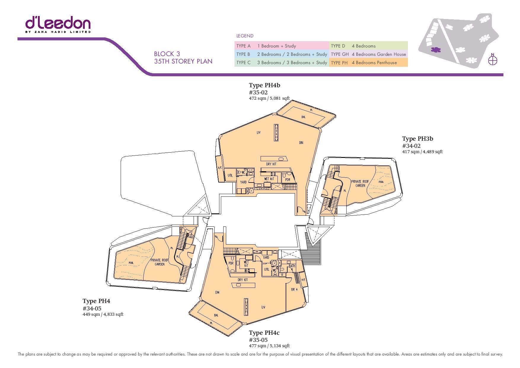 D'Leedon Block 35th Storey Floor Plans