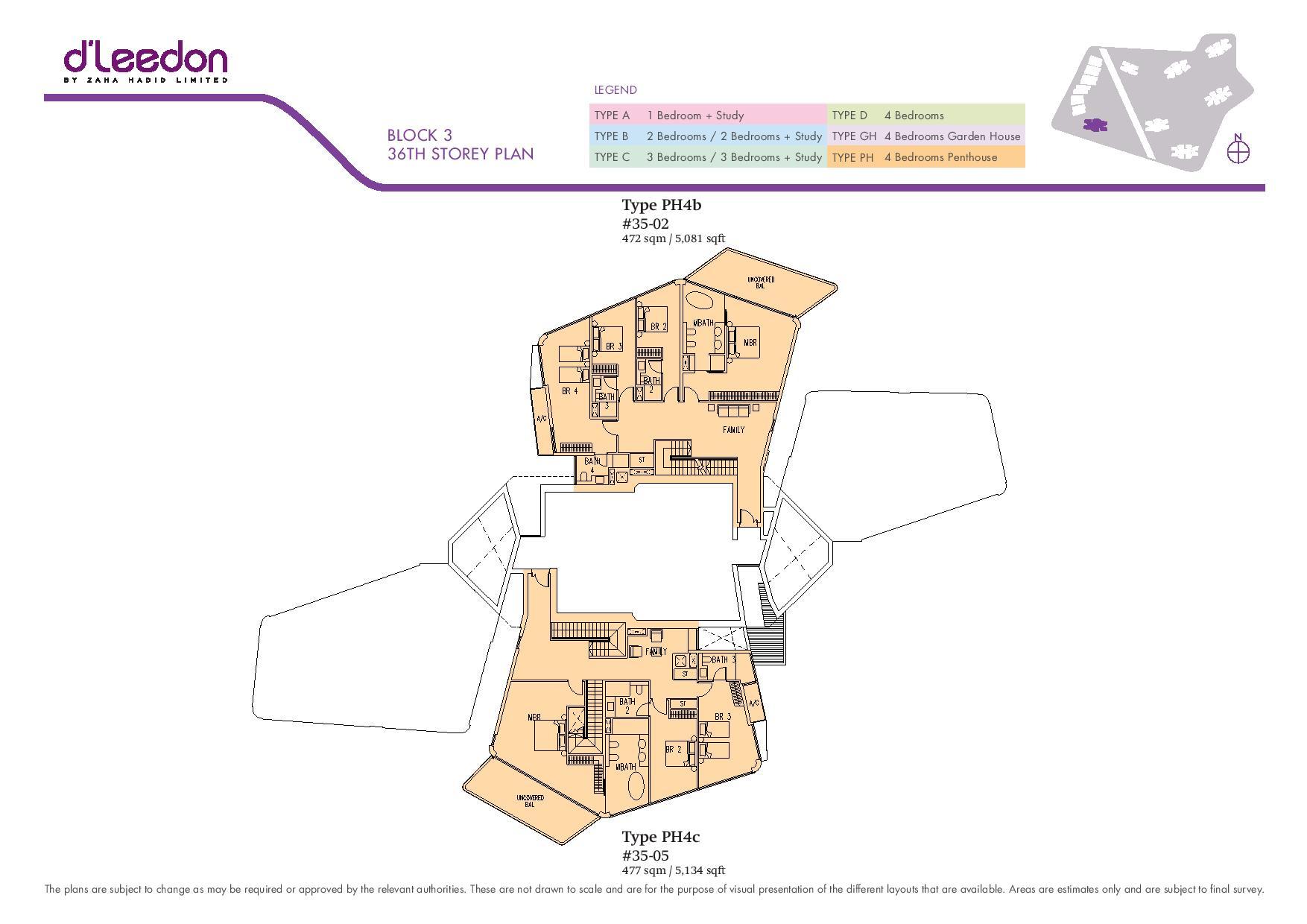 D'Leedon Block 36th Storey Floor Plans