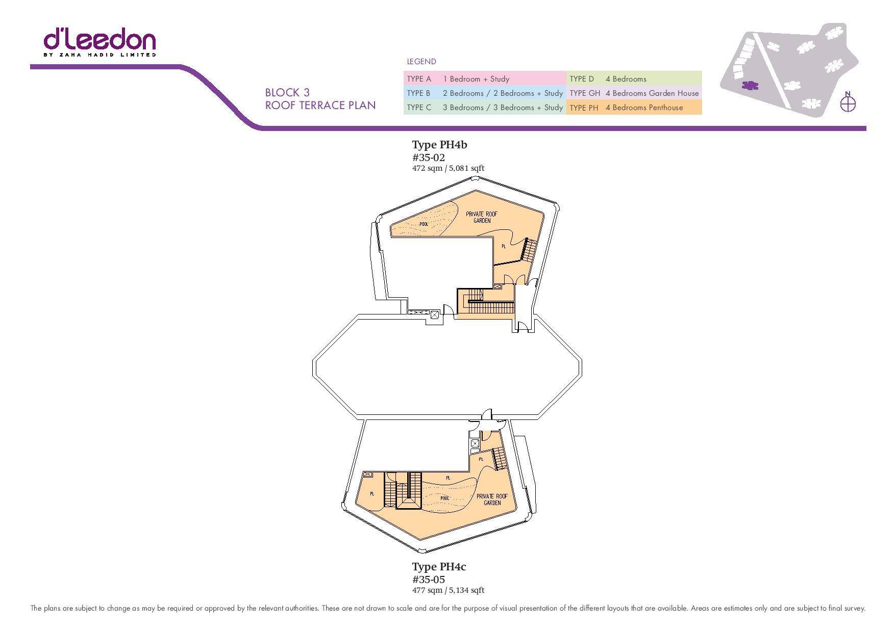D'Leedon Block Roof Terrace Floor Plans