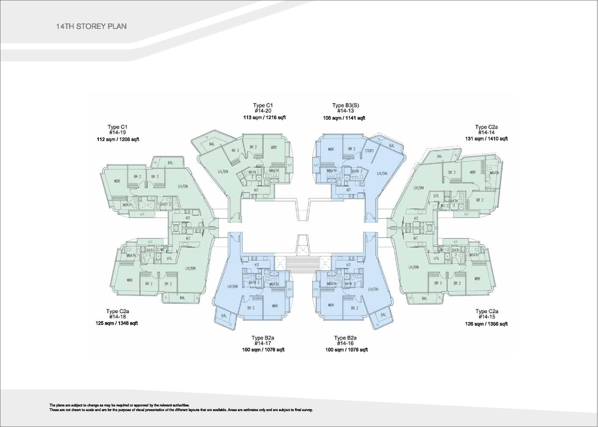D'Leedon Block 7 14th level Floor Plans