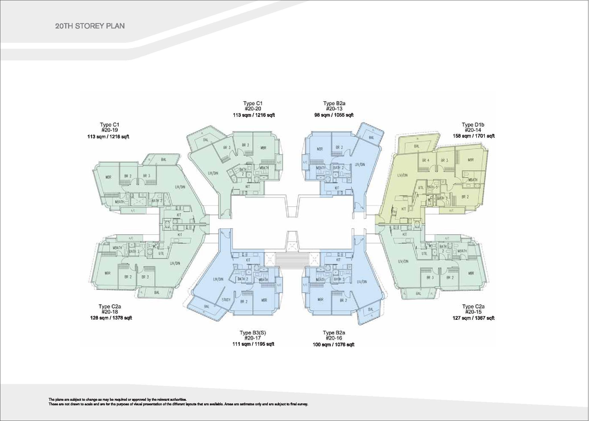 D'Leedon Block 7 20th level Floor Plans