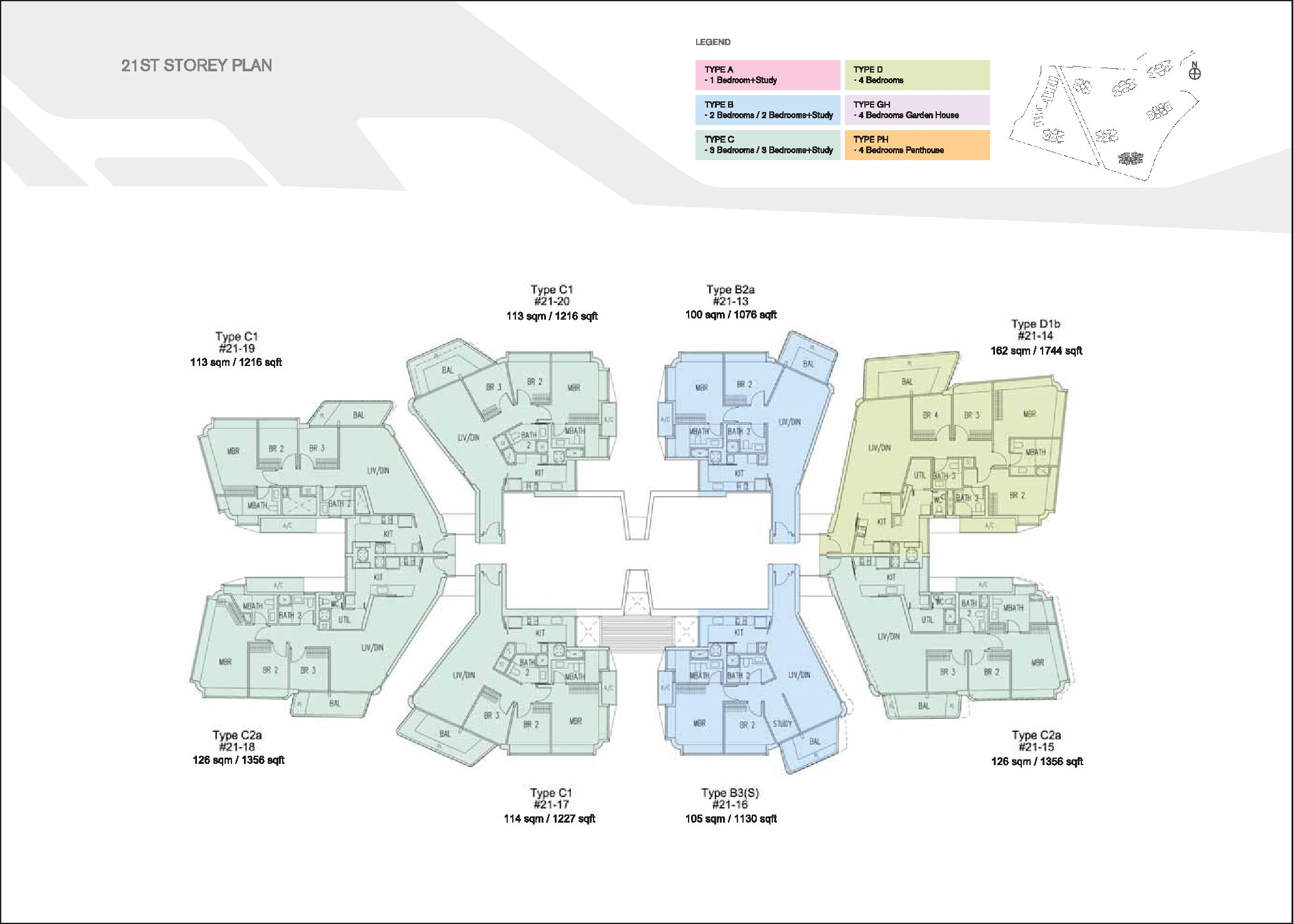 D'Leedon Block 7 21st level Floor Plans