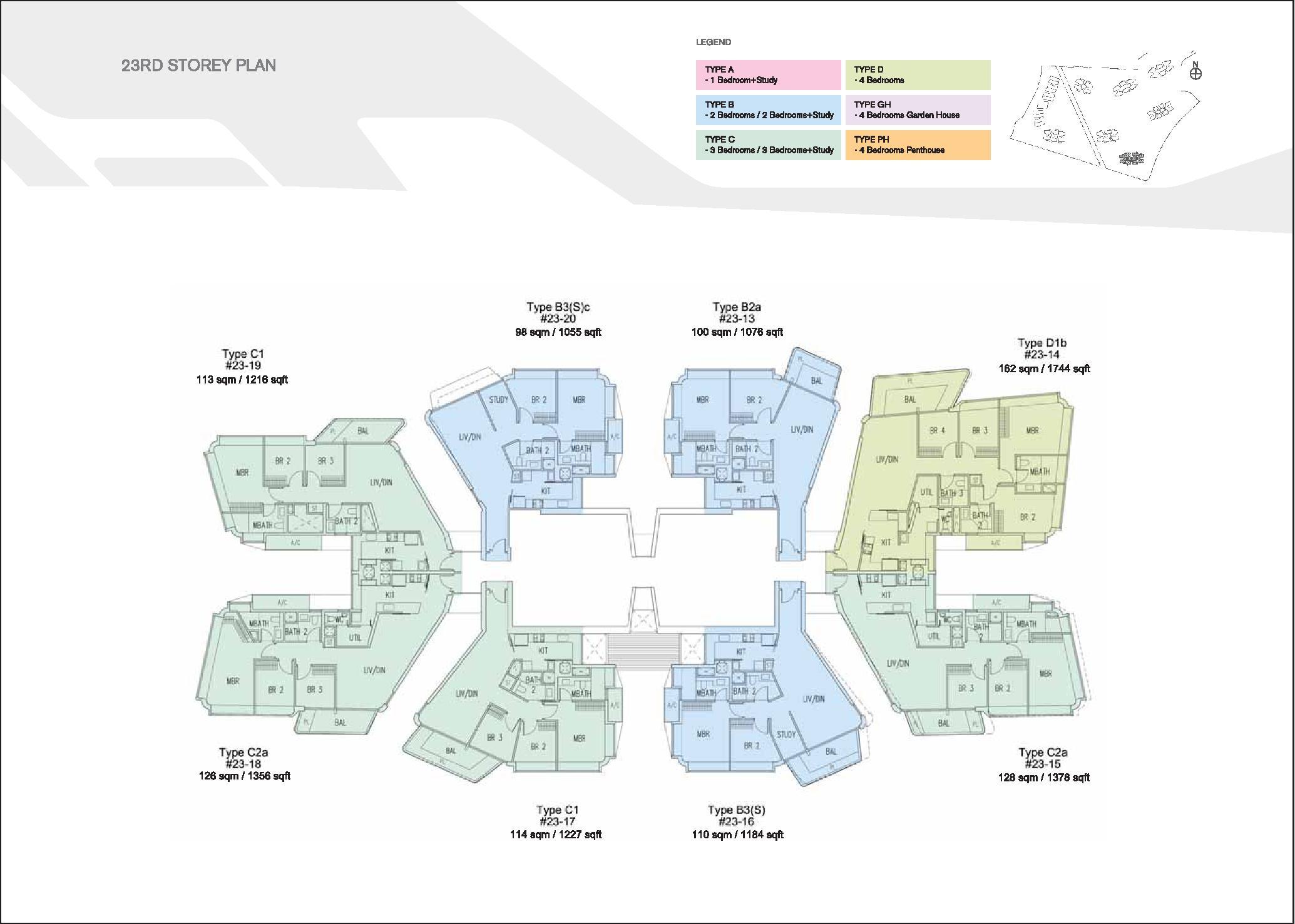 D'Leedon Block 7 22nd level Floor Plans