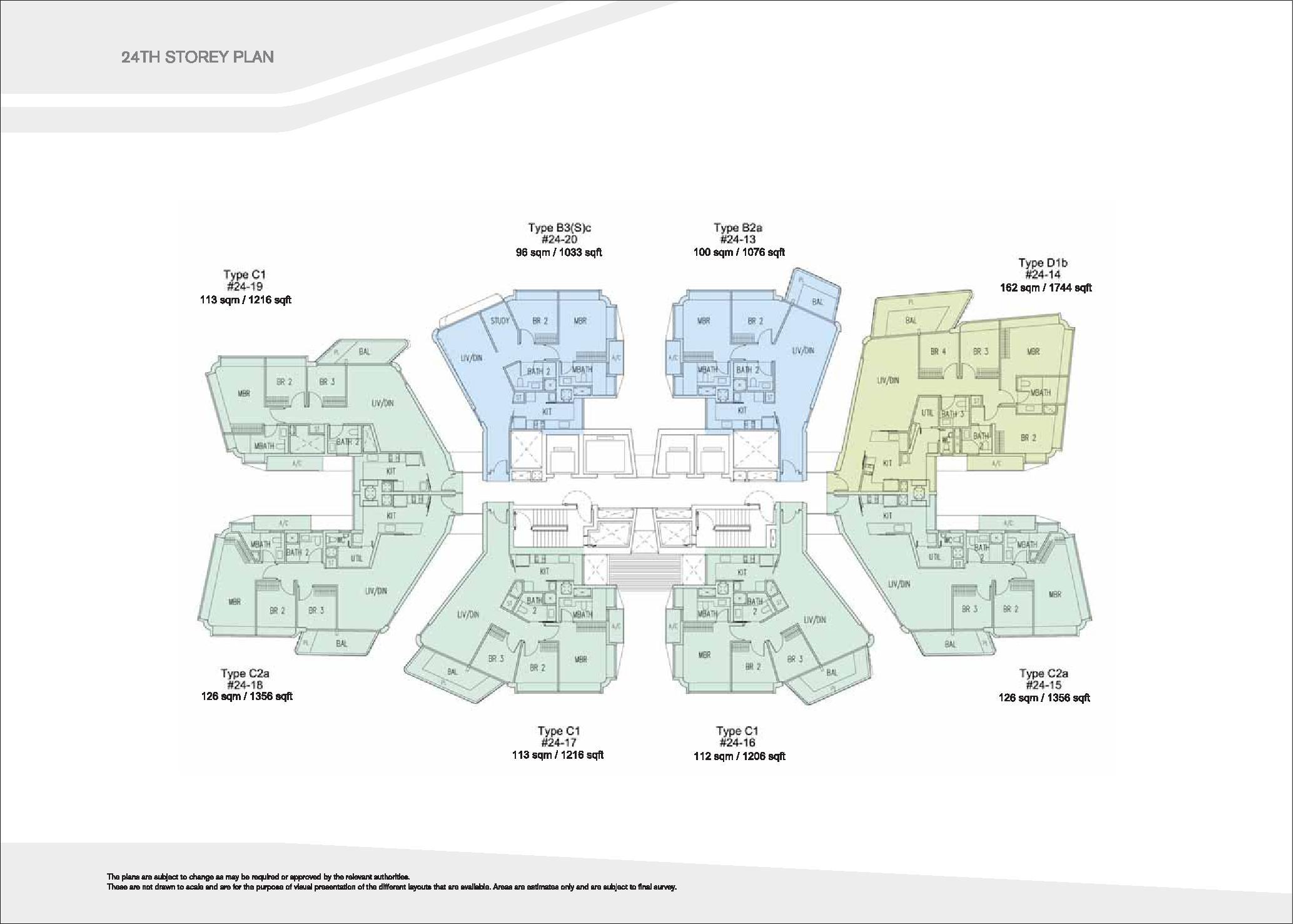 D'Leedon Block 7 24th level Floor Plans