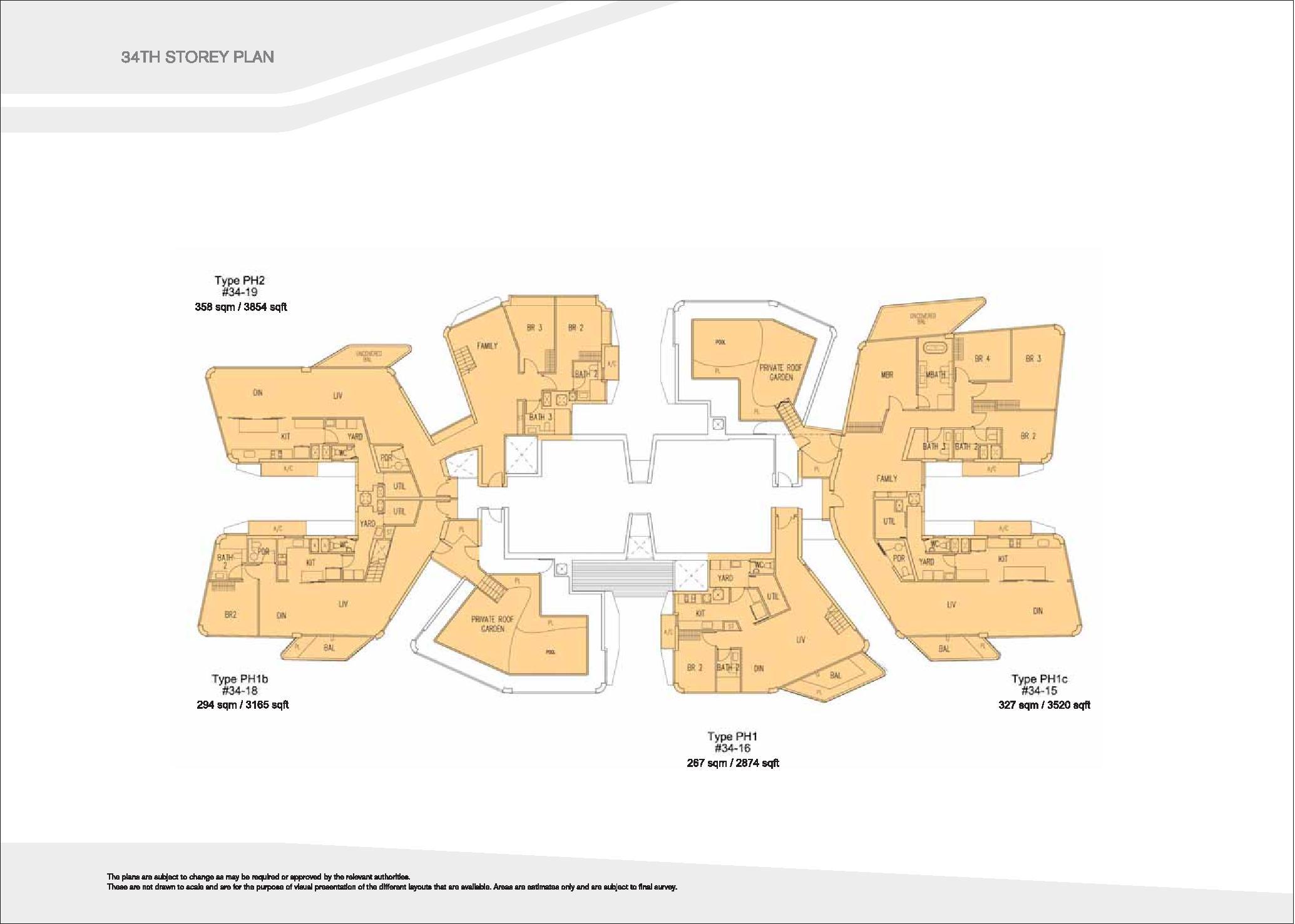 D'Leedon Block 7 34th level Floor Plans