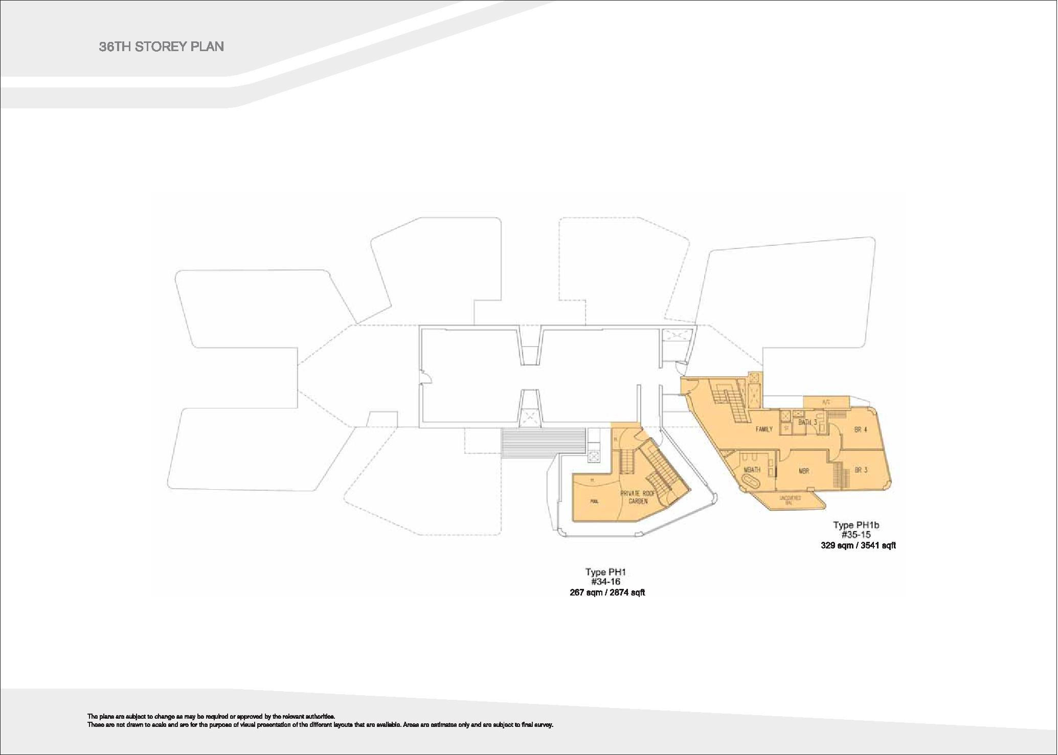 D'Leedon Block 7 36th level Floor Plans