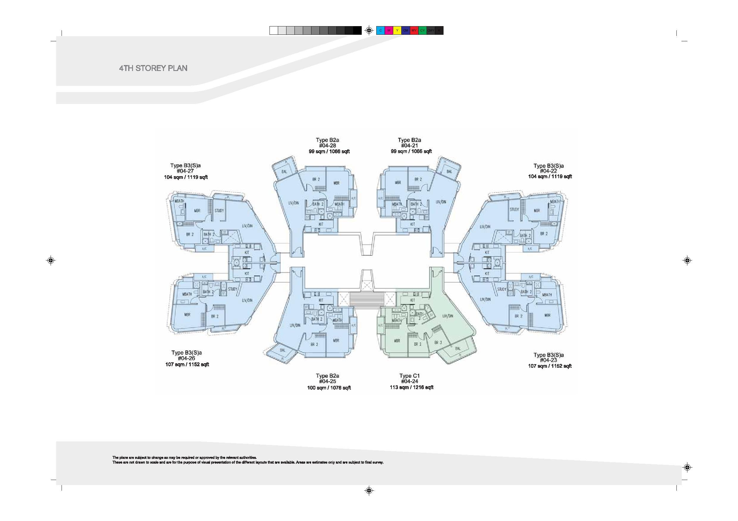 D'Leedon Block 9 4th Level Floor Plans