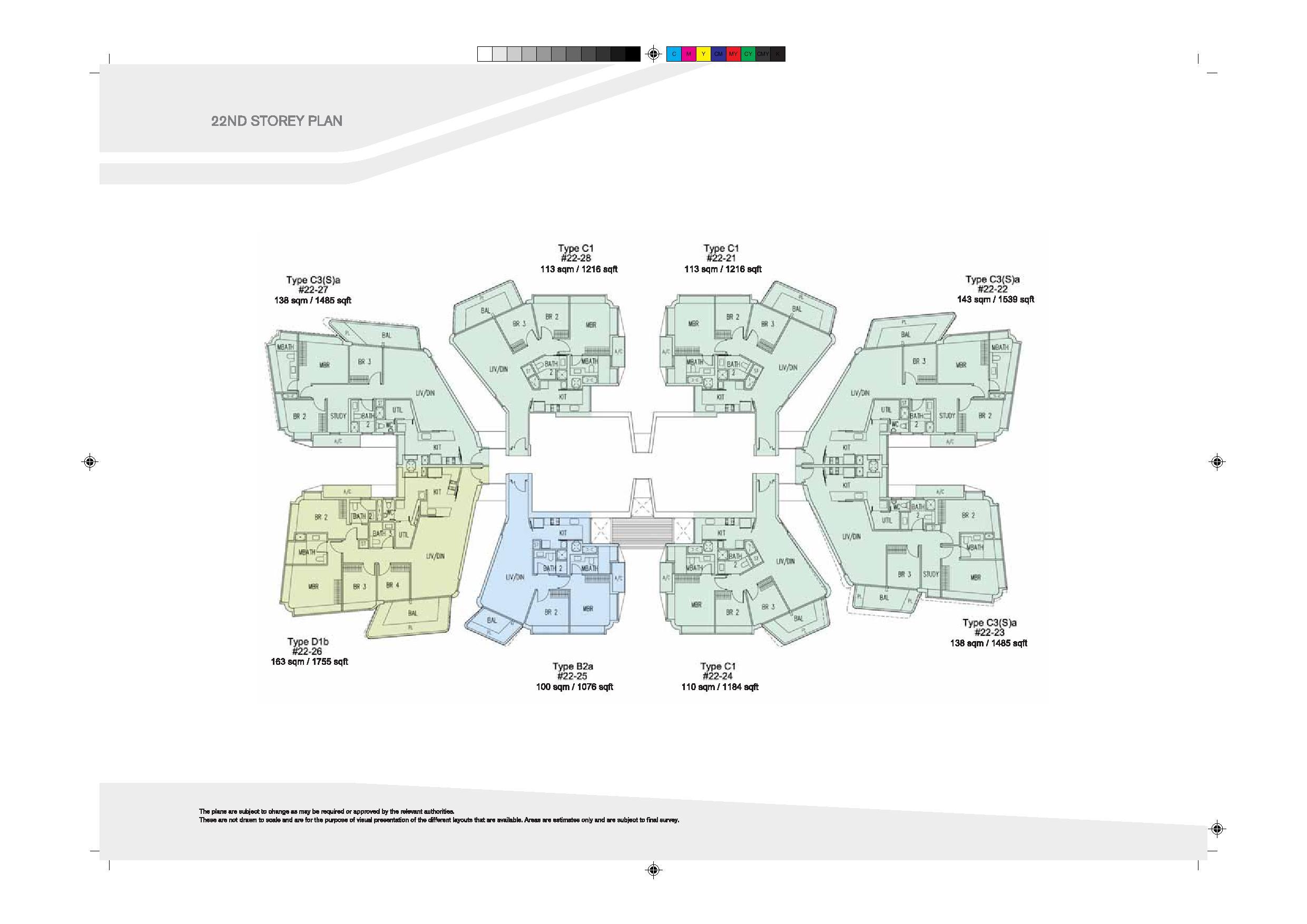 D'Leedon Block 9 22nd Level Floor Plans