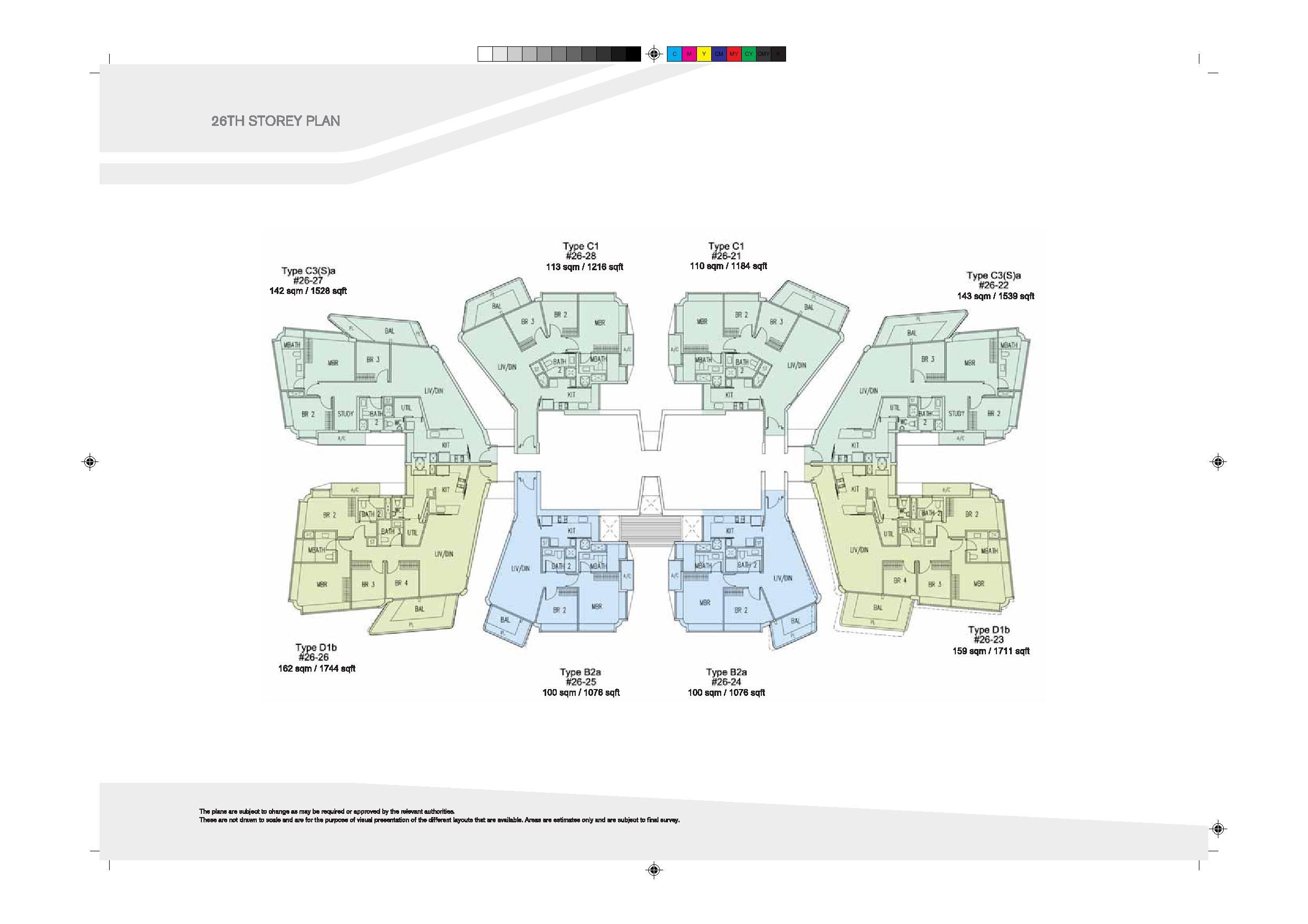 D'Leedon Block 9 26th Level Floor Plans