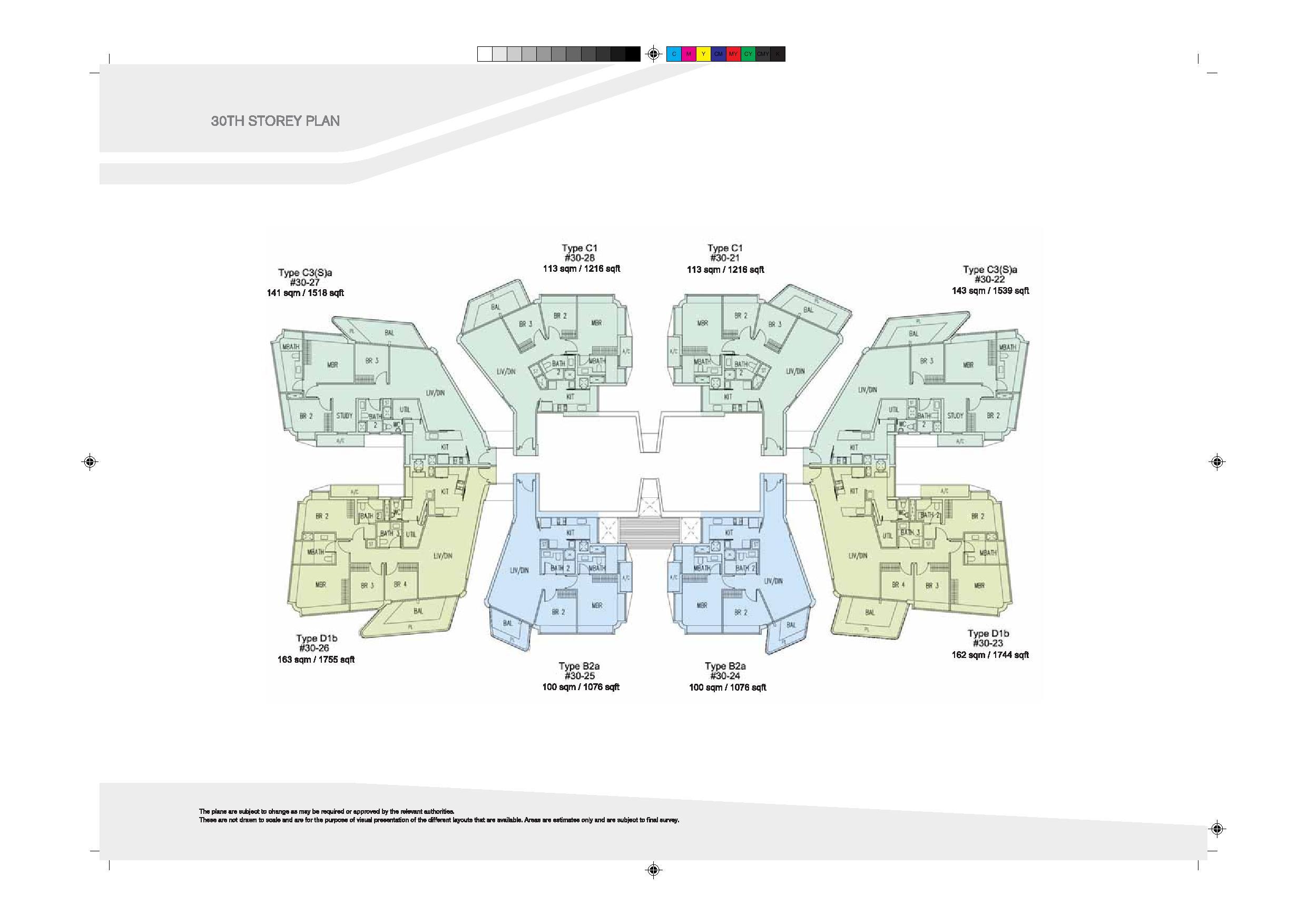 D'Leedon Block 9 30th Level Floor Plans