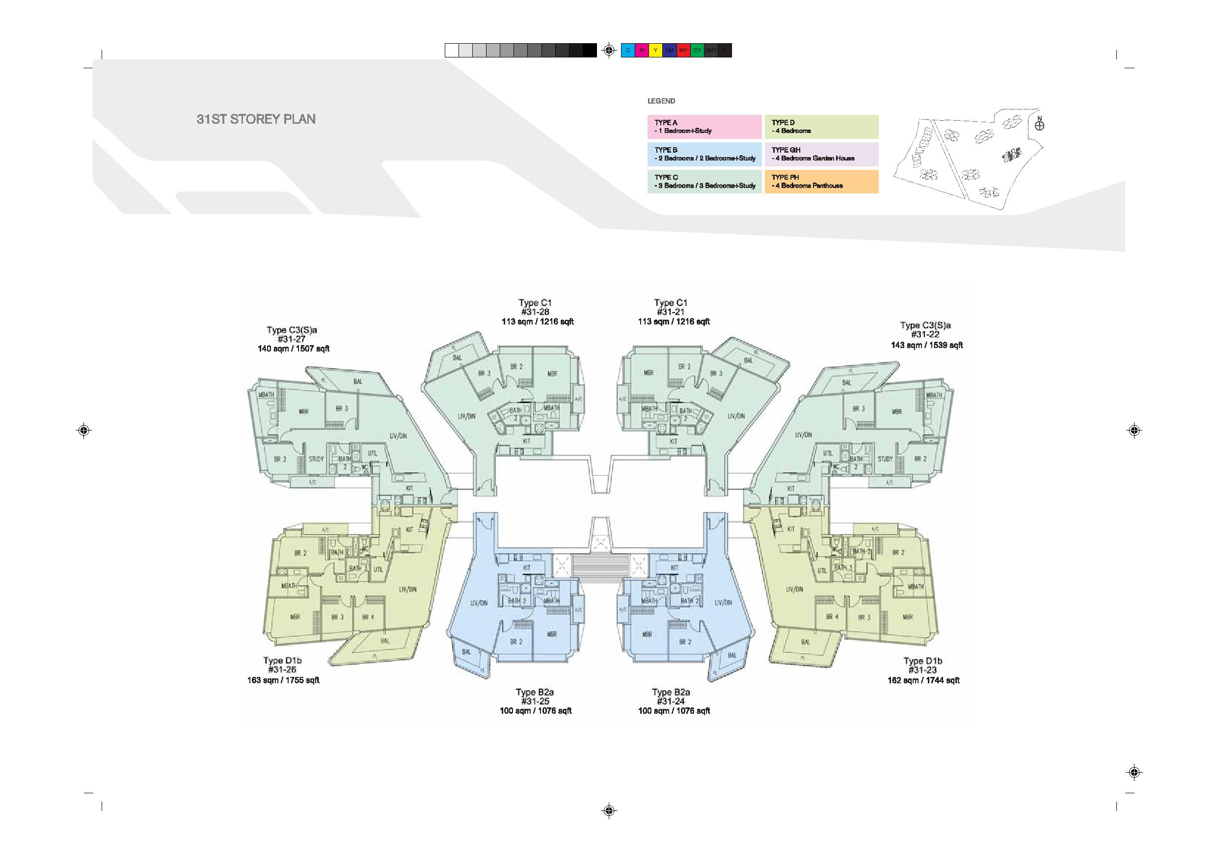 D'Leedon Block 9 31st Level Floor Plans