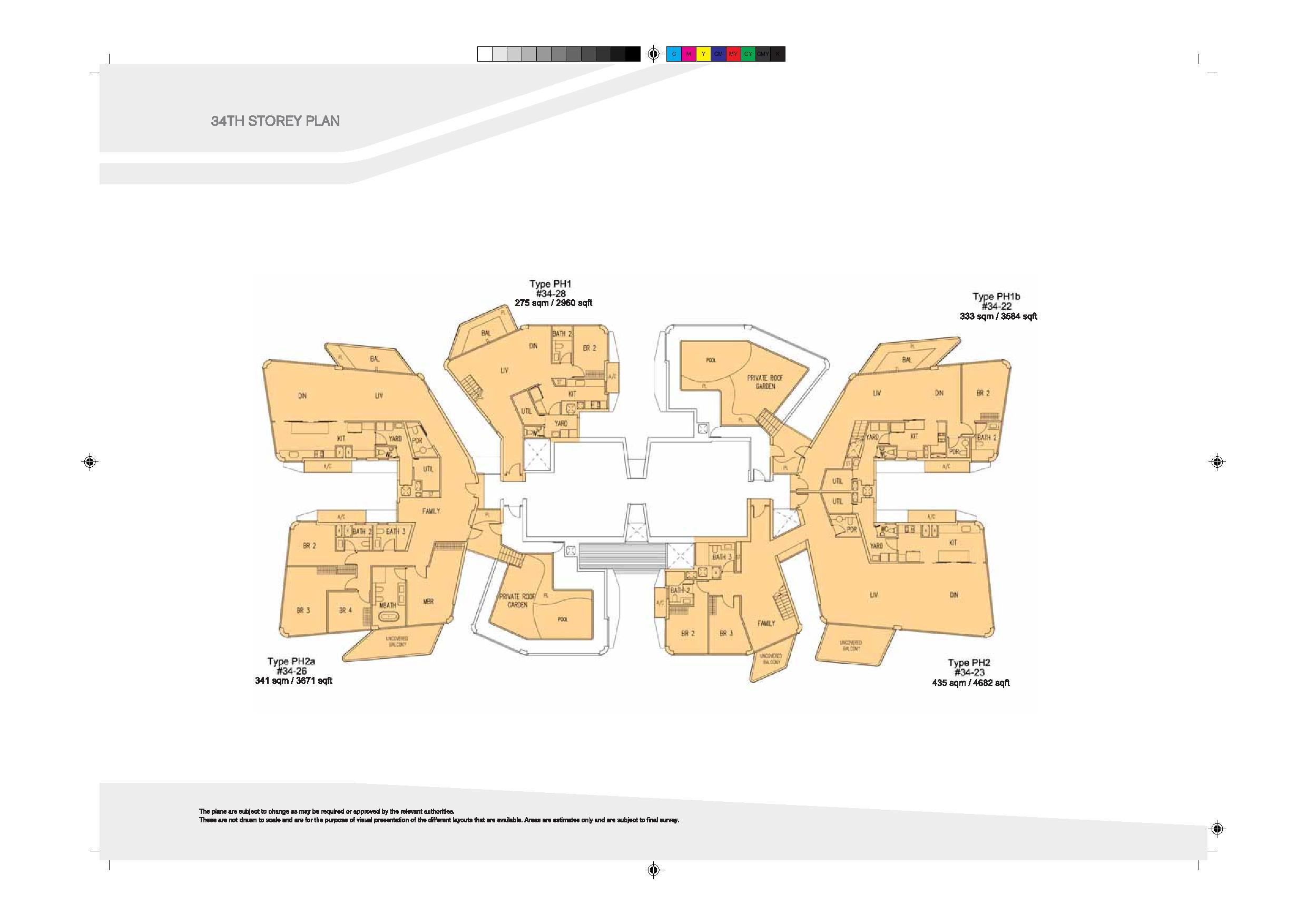 D'Leedon Block 9 34th Level Floor Plans