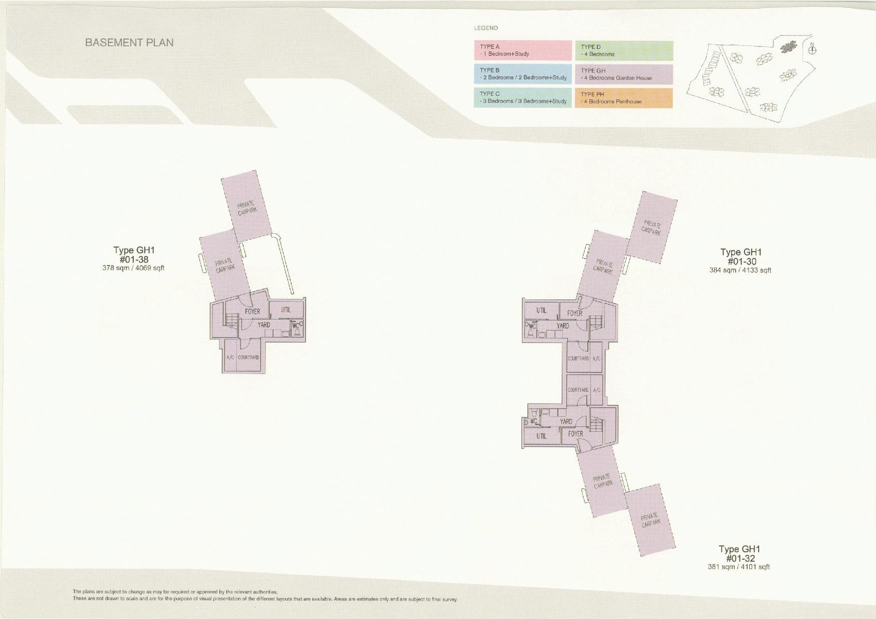 D'Leedon Block 11 Basement Floor Plans